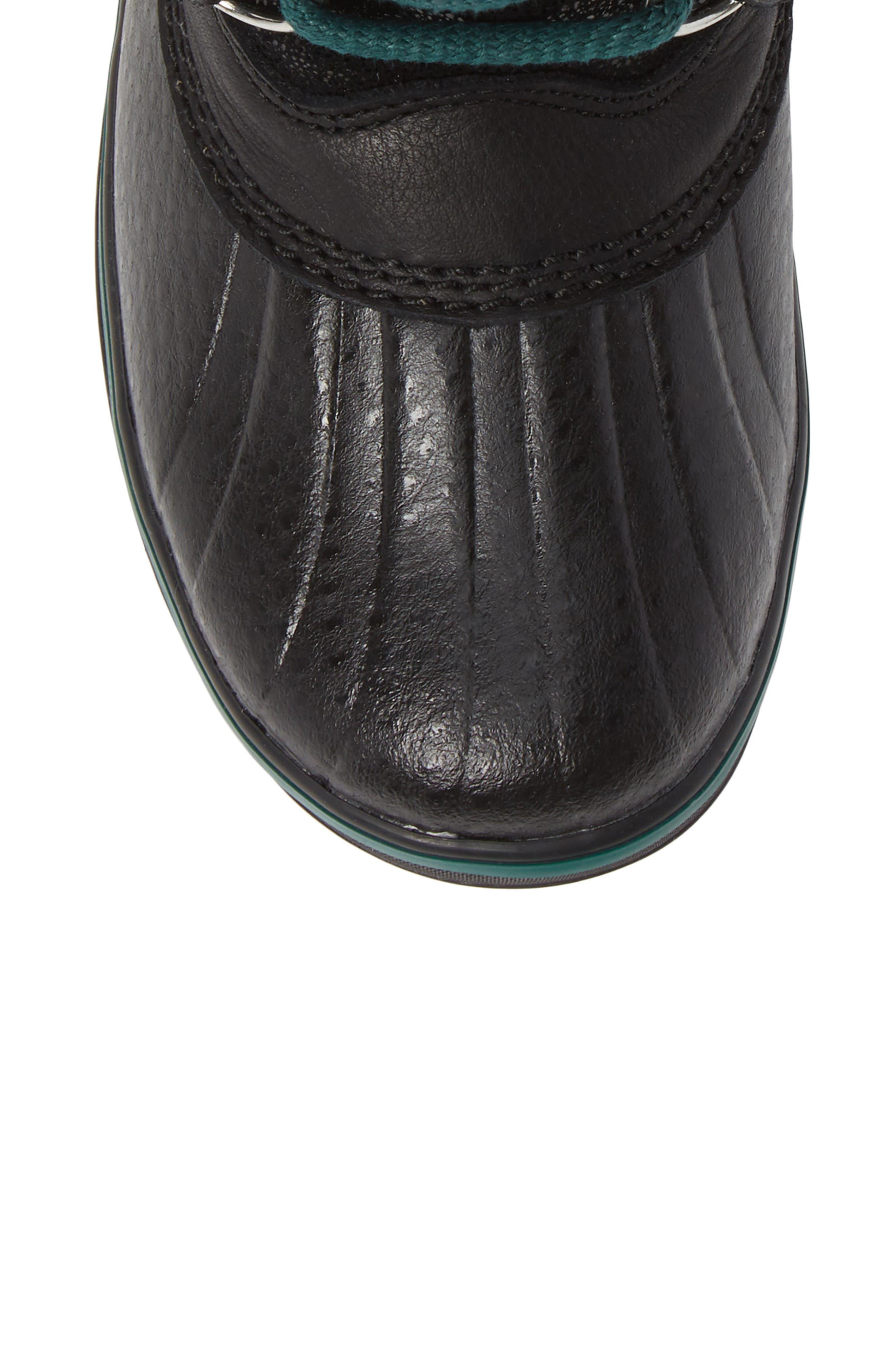 Tofino Faux Fur & Genuine Shearling Lined Waterproof Boot,                             Alternate thumbnail 5, color,                             BLACK