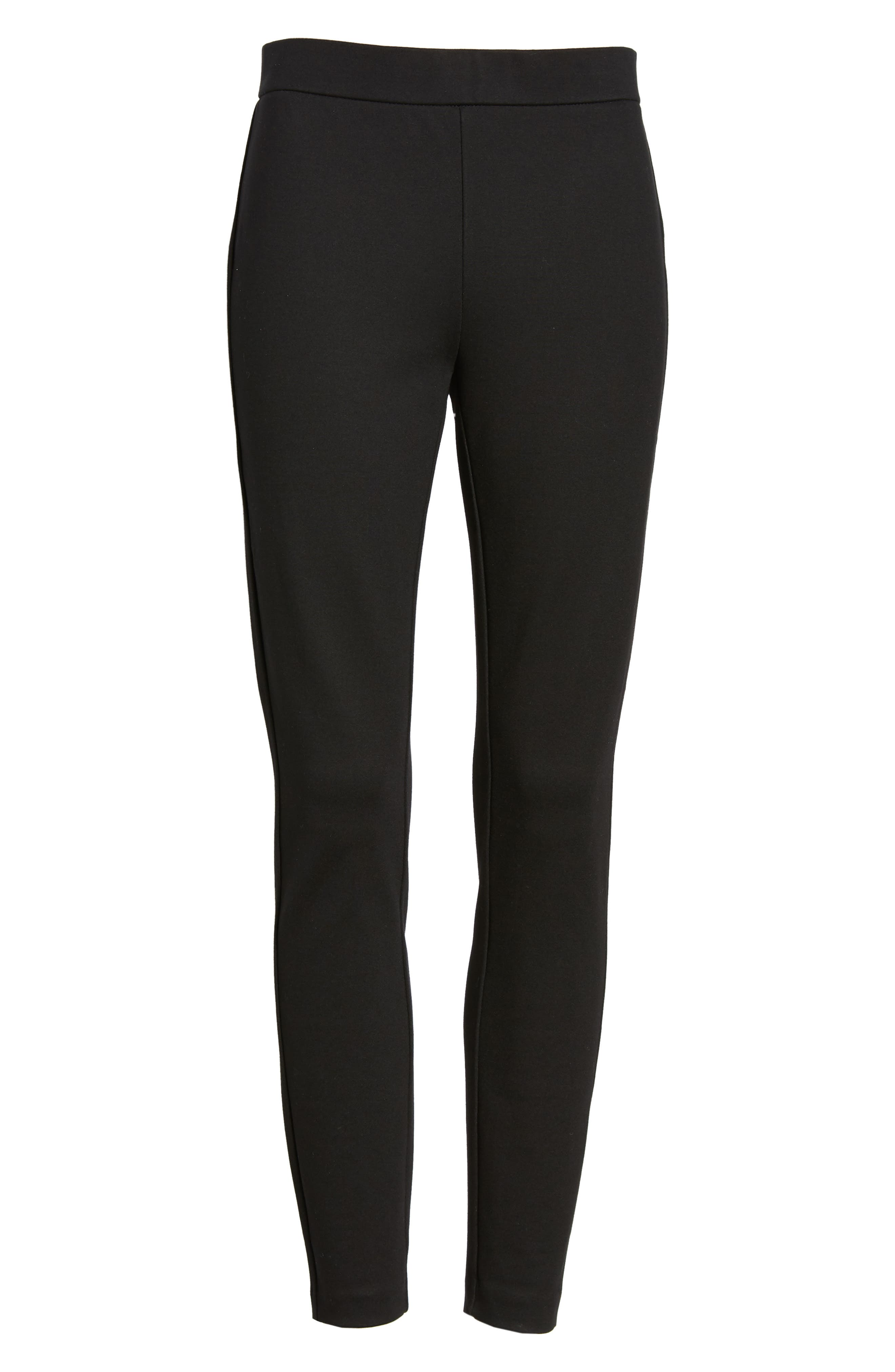 Any Day Stretch Ponte Pants,                             Alternate thumbnail 7, color,                             001