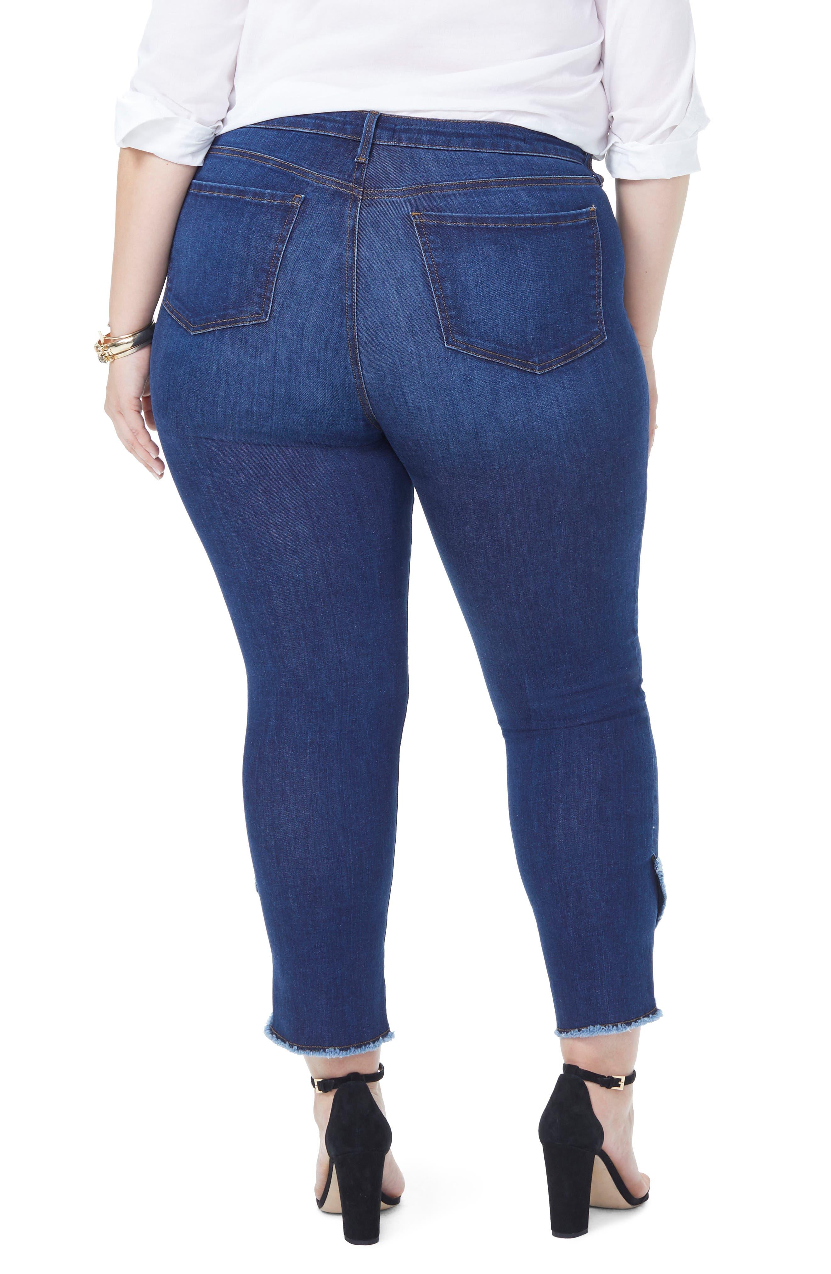 Sheri Envelope Hem Stretch Slim Ankle Jeans,                             Alternate thumbnail 4, color,                             COOPER