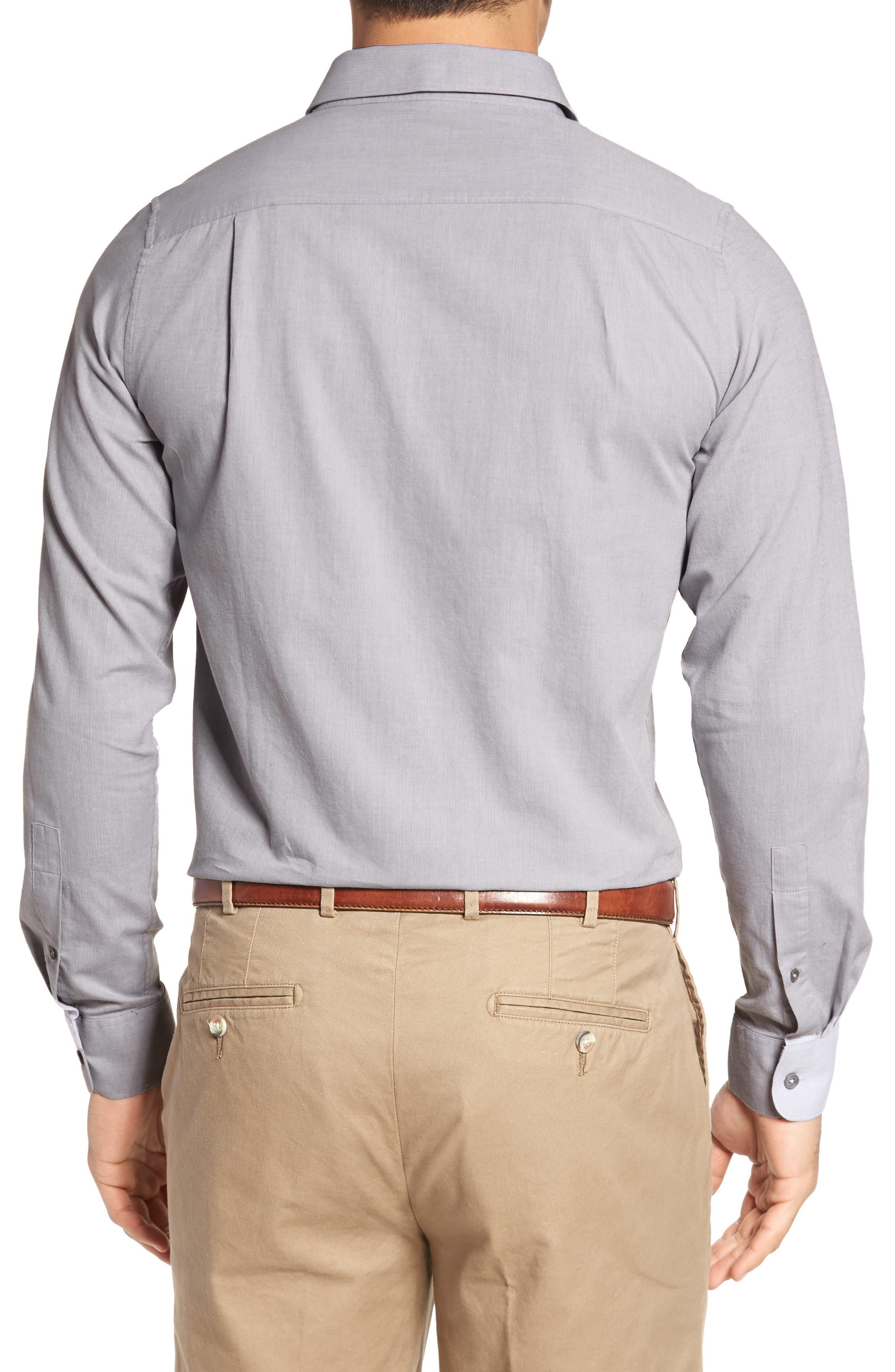 Gotemba Slim Fit Herringbone Sport Shirt,                             Alternate thumbnail 2, color,                             020
