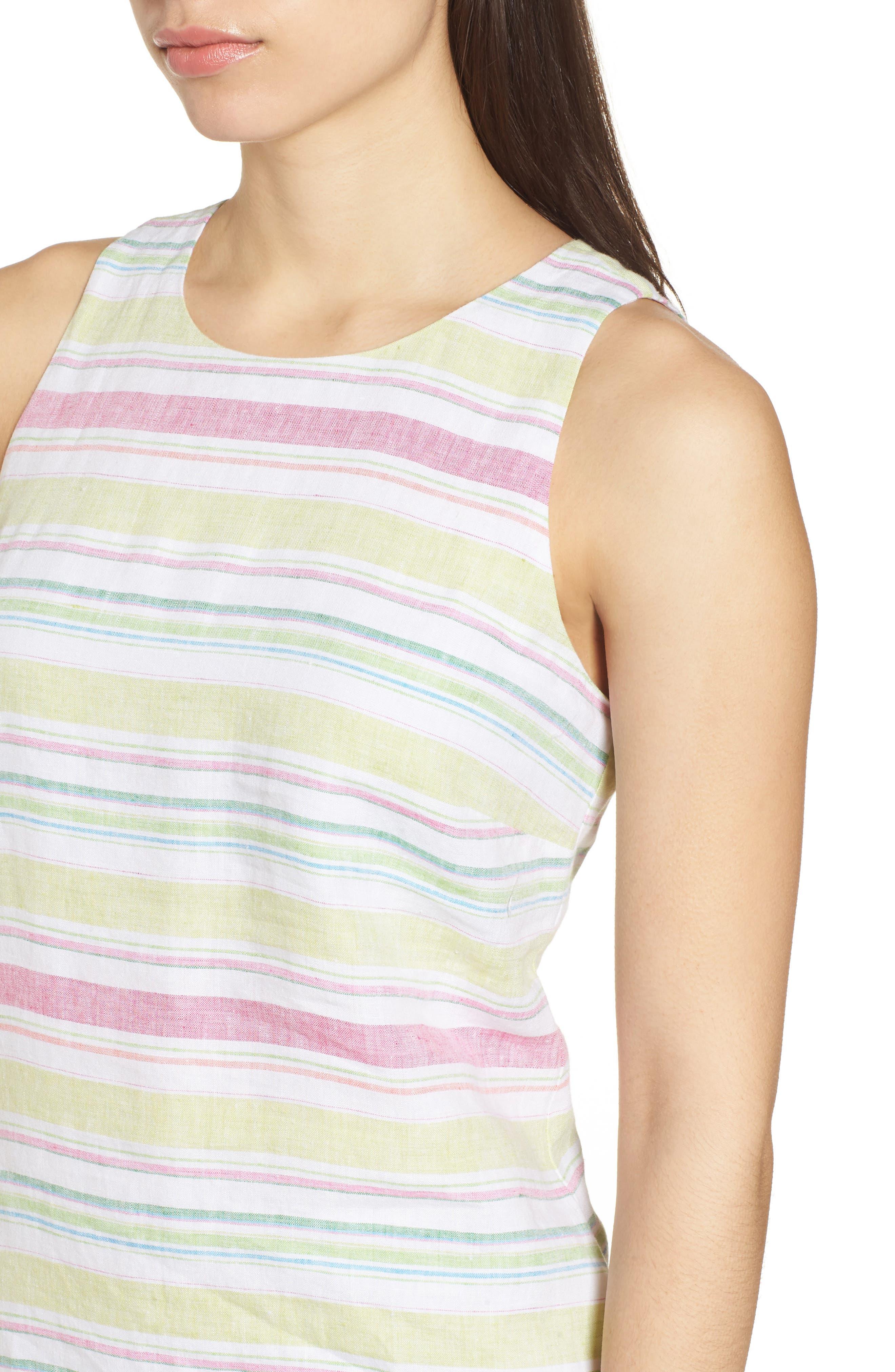 Tulum Stripe Shift Dress,                             Alternate thumbnail 4, color,                             700