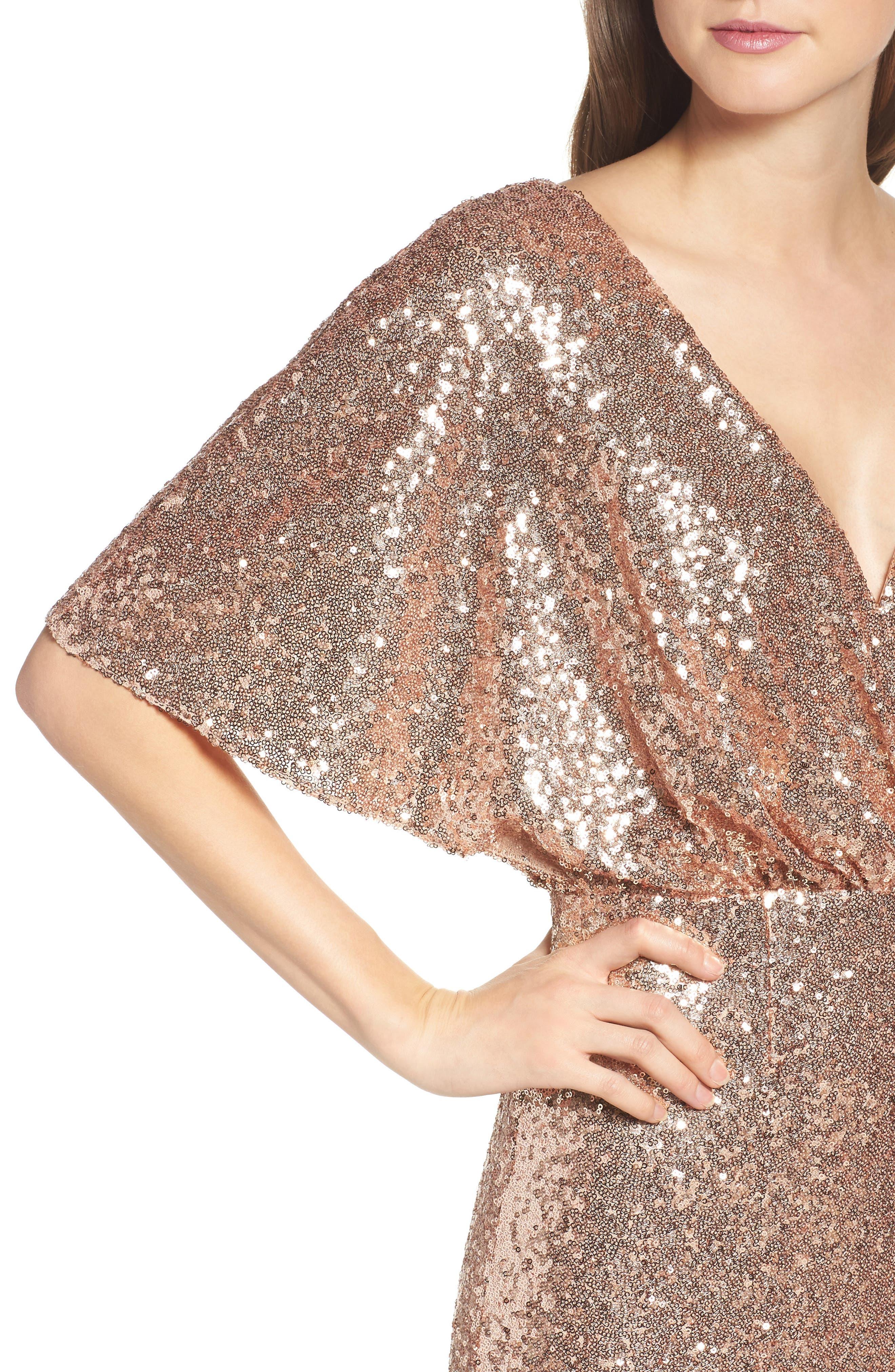 Elson Sequin Blouson Gown,                             Alternate thumbnail 4, color,                             650