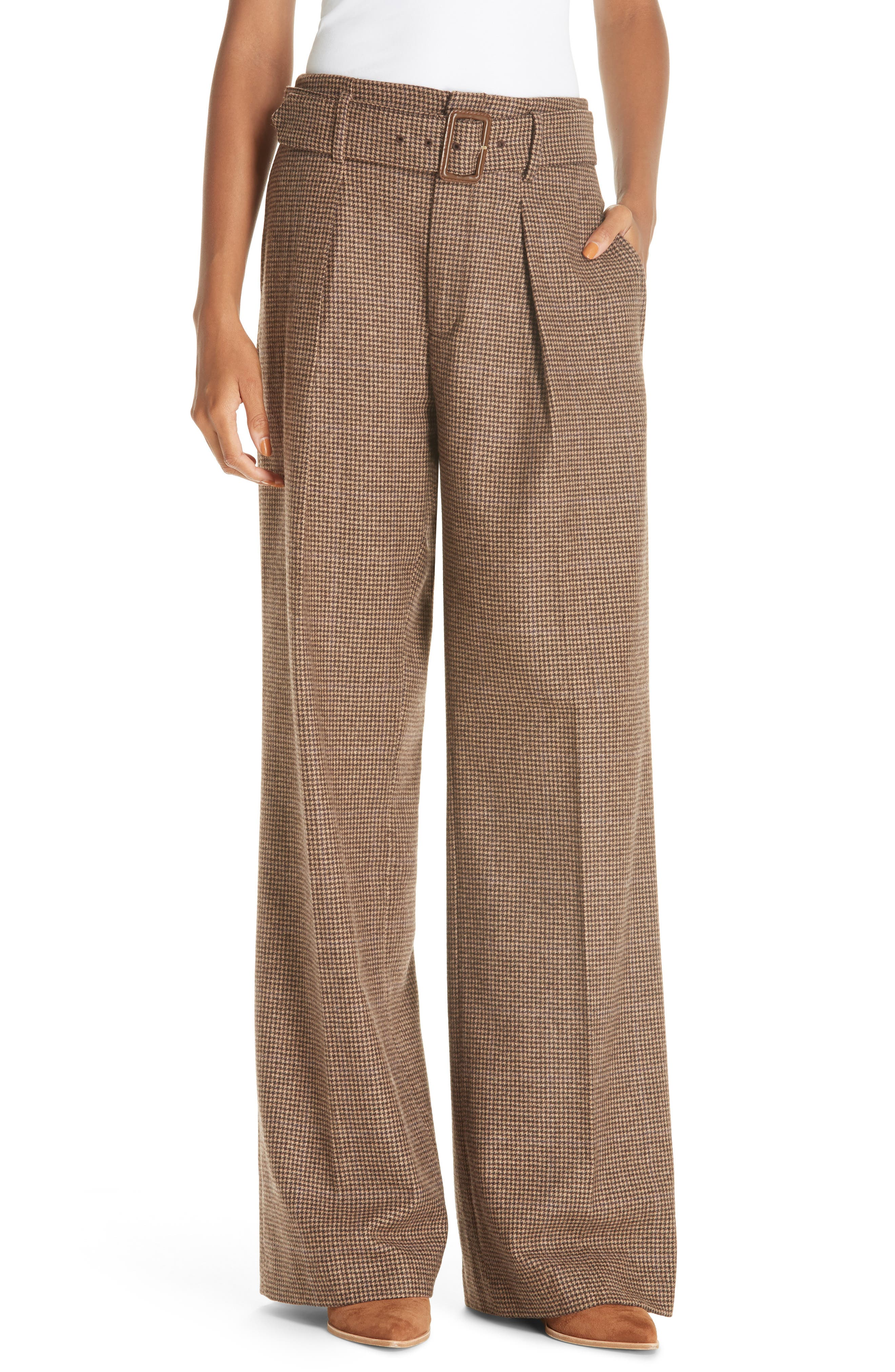 Relaxed Wide Leg Tweed Pants,                         Main,                         color, 200