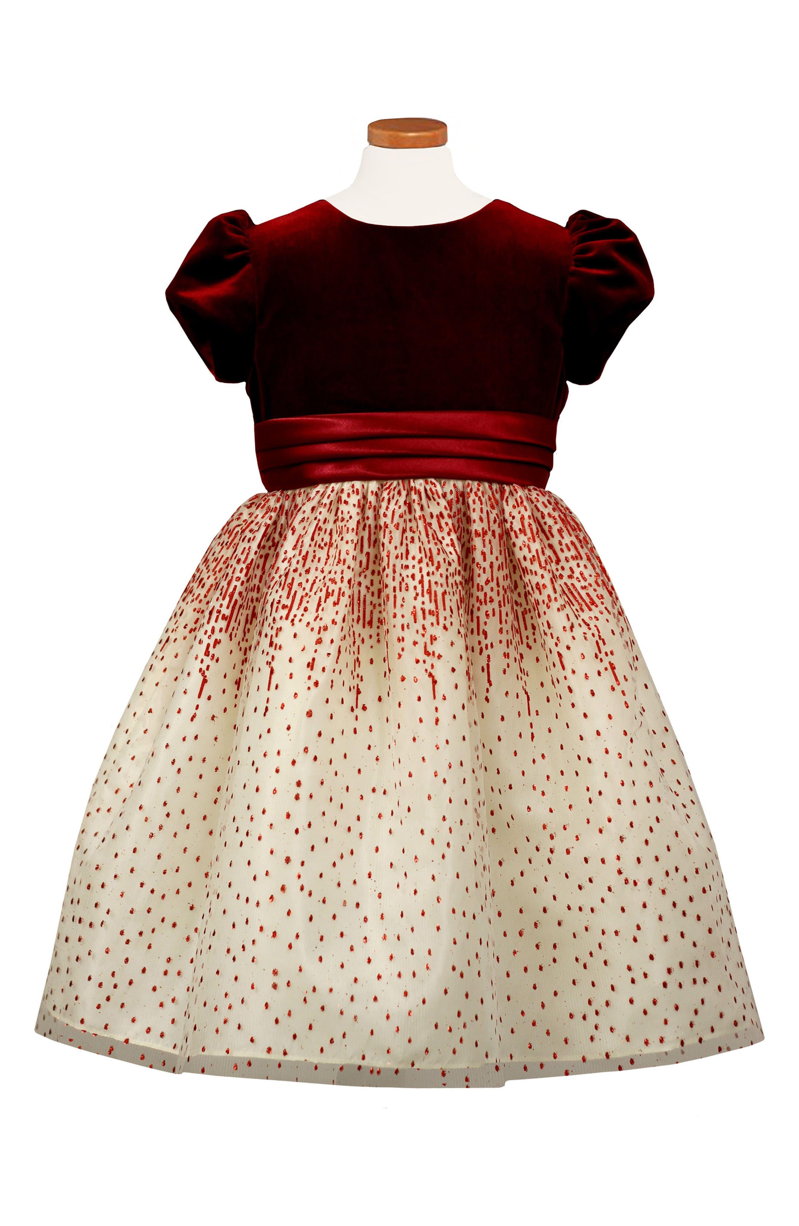 Velvet Bodice Party Dress, Main, color, 600