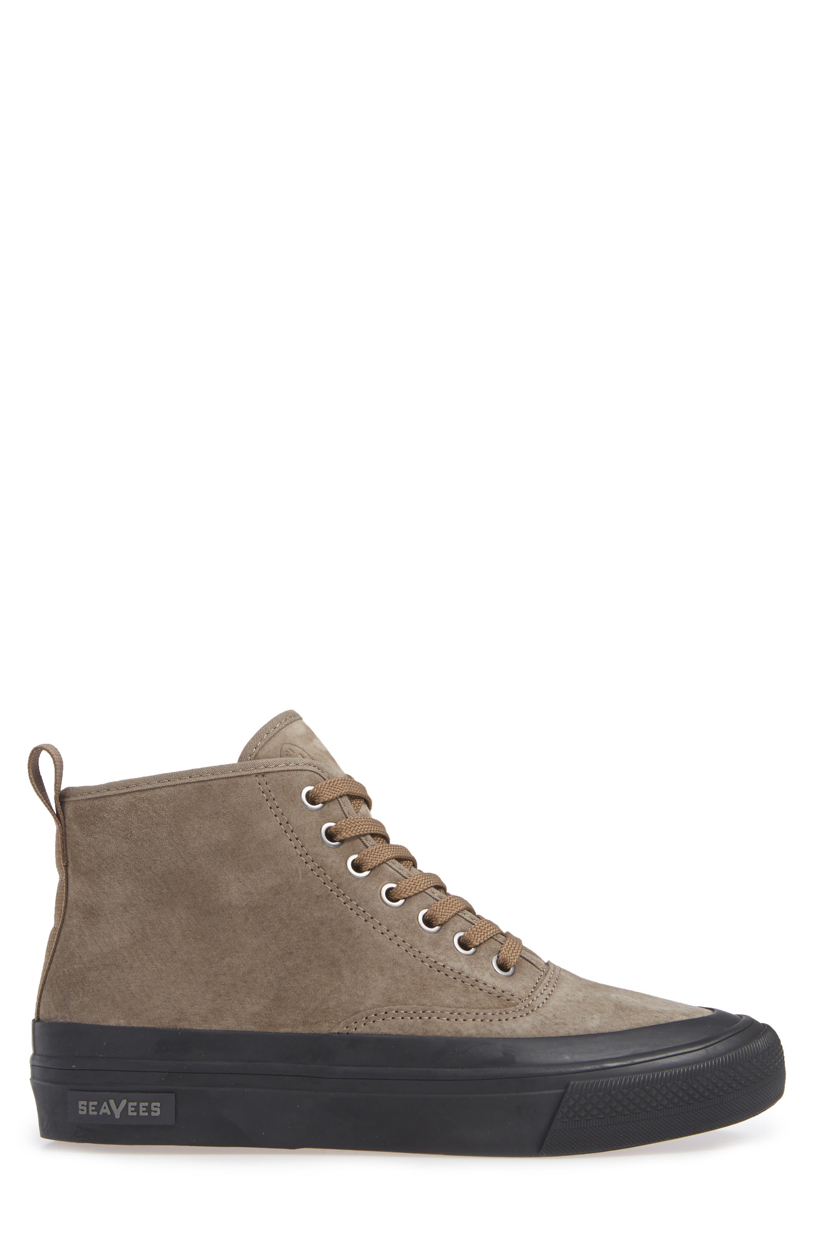 Mariners Waterproof Sneaker,                             Alternate thumbnail 3, color,                             BROWN SUEDE