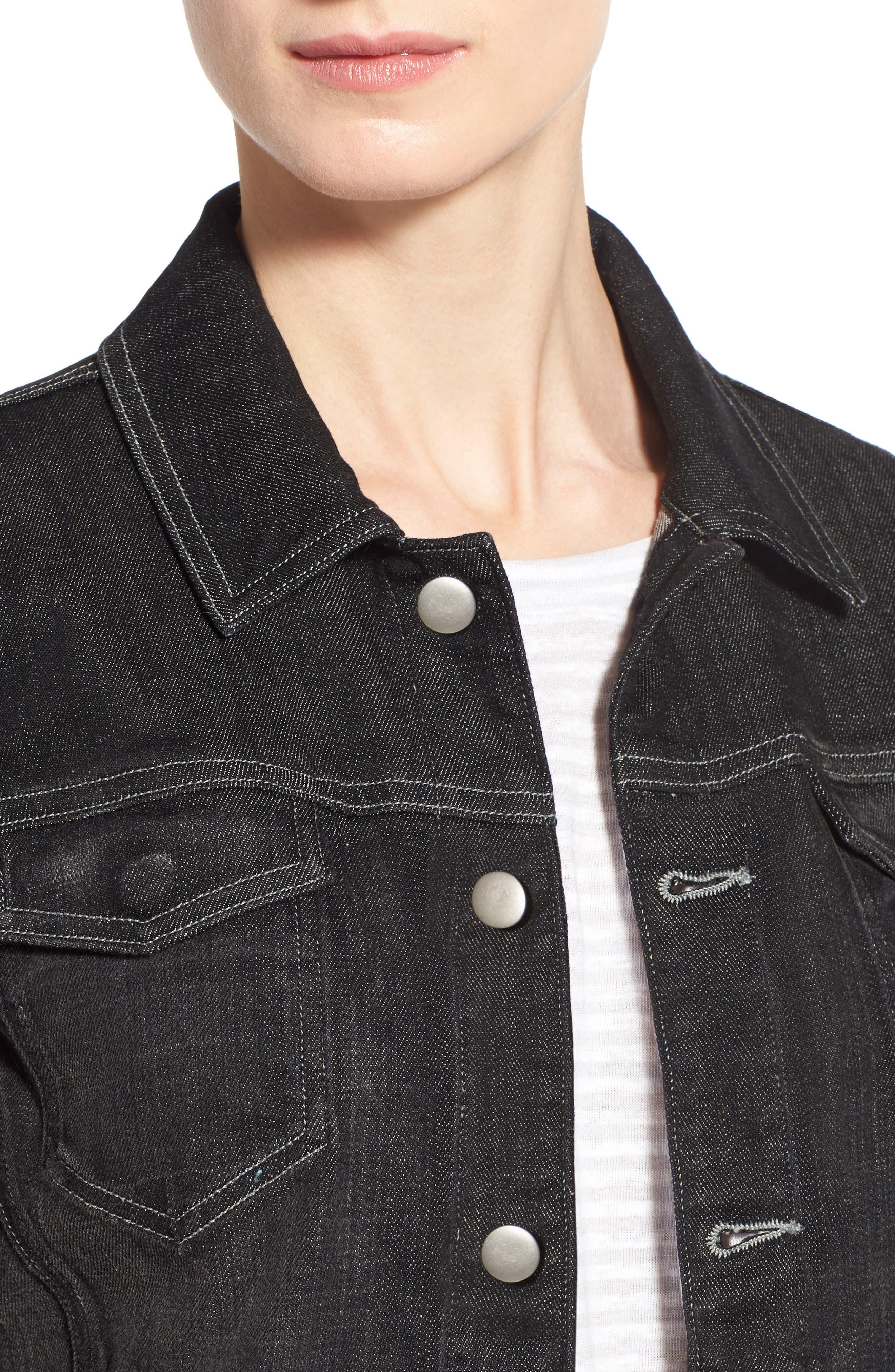 Denim Classic Collar Jacket,                             Alternate thumbnail 3, color,                             007