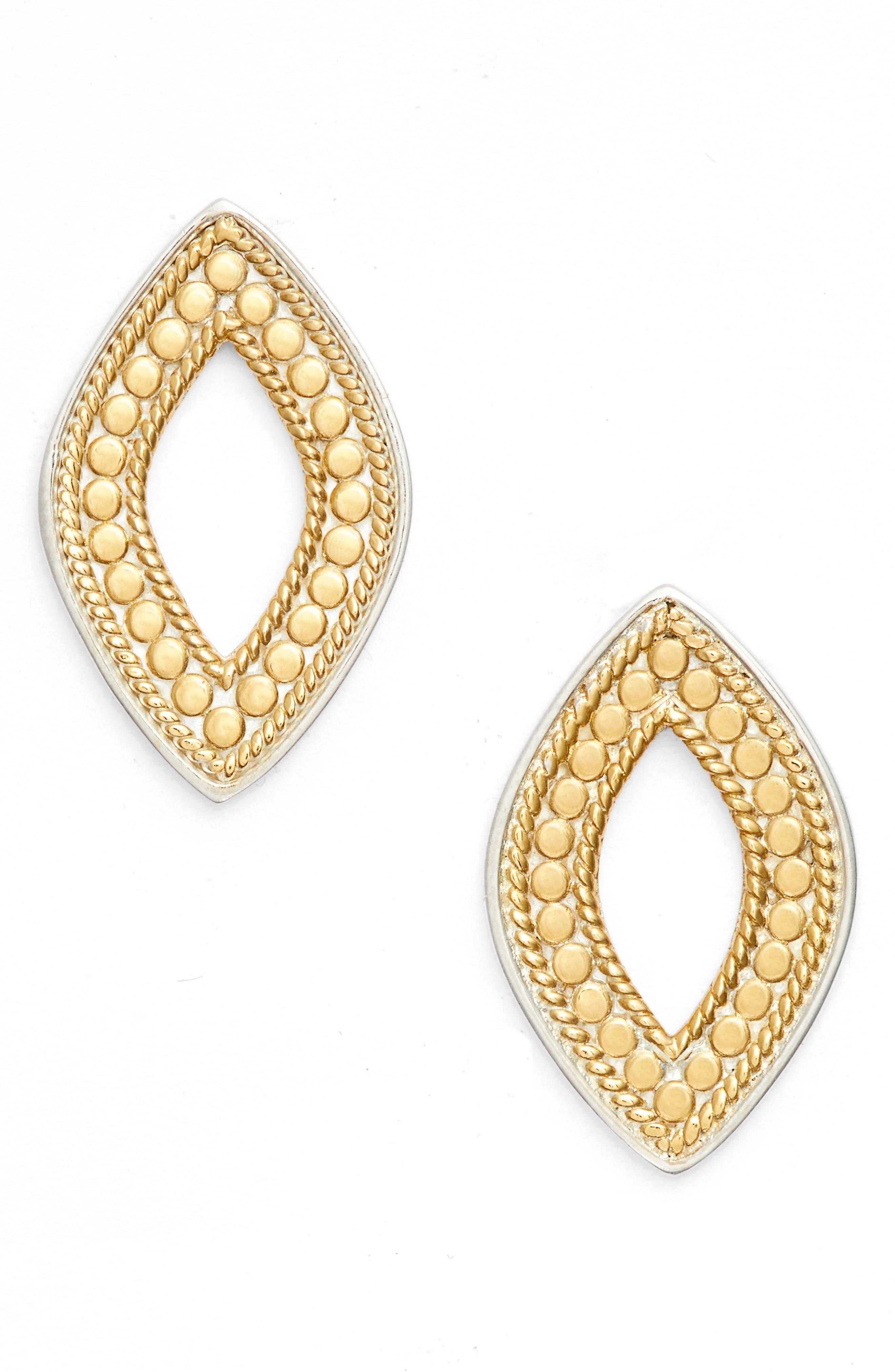 Open Stud Earrings,                         Main,                         color, 400