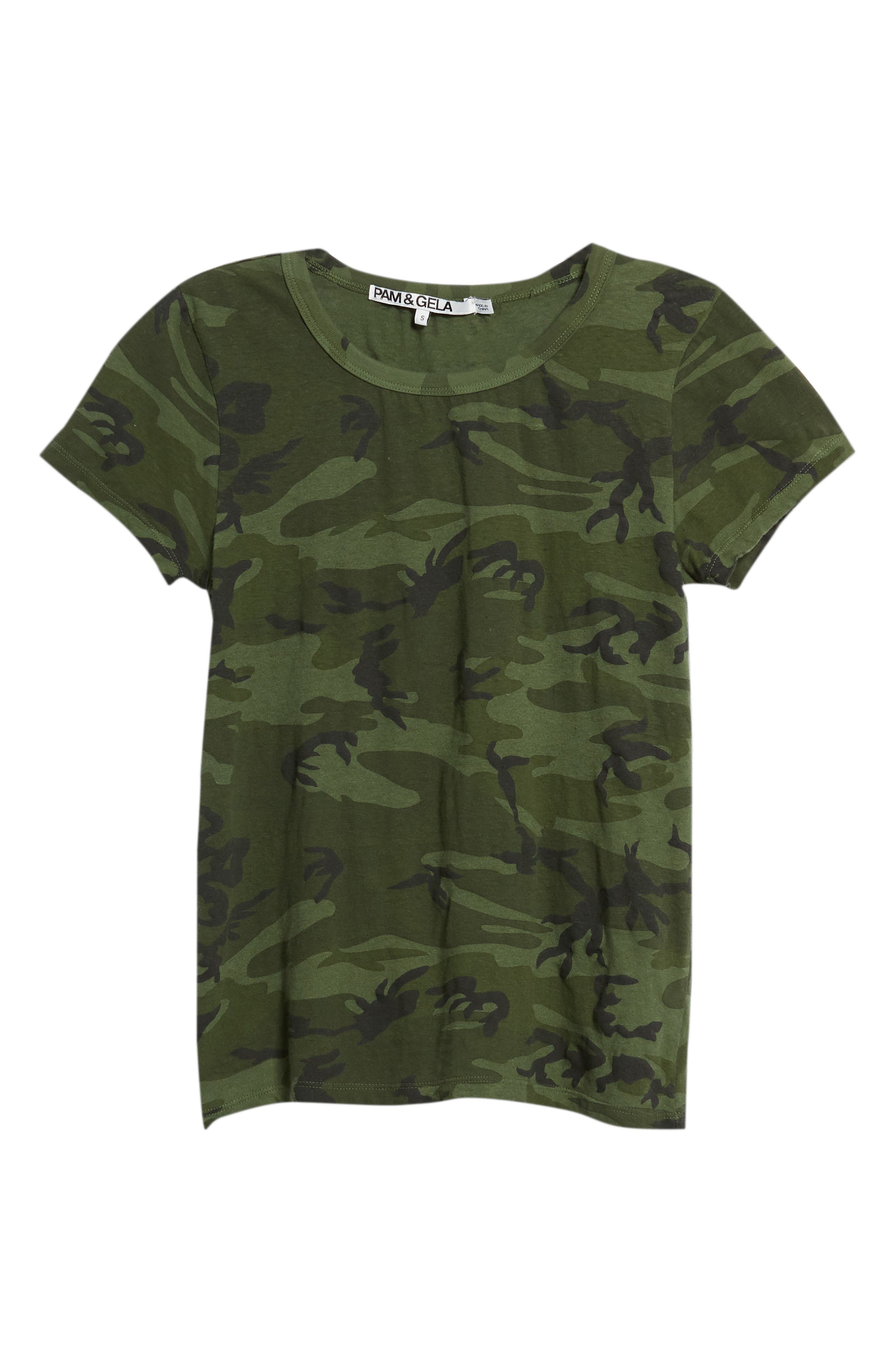 Camo Print Tee,                             Alternate thumbnail 6, color,                             371