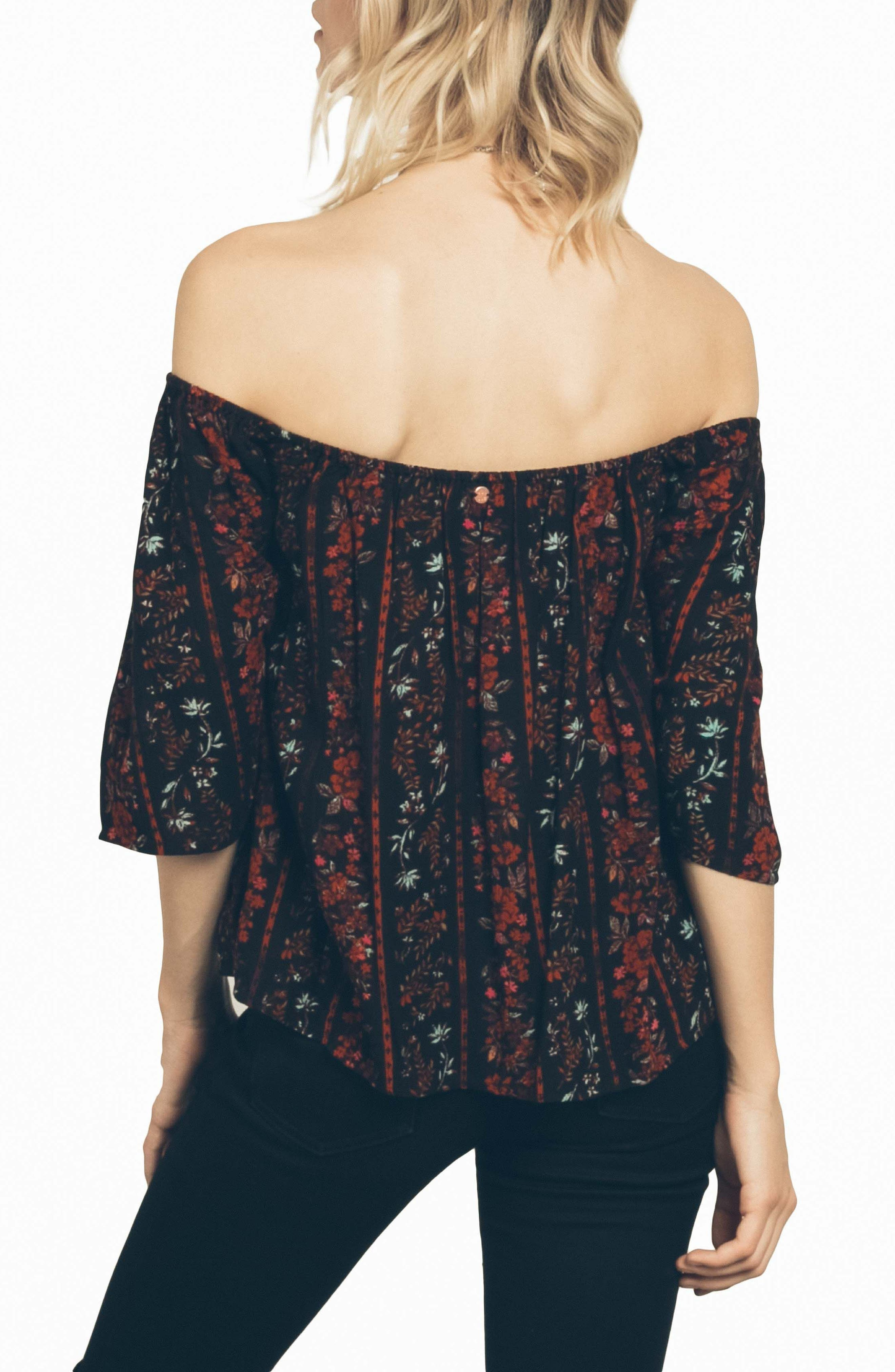 Fresh As Off the Shoulder Top,                             Alternate thumbnail 3, color,