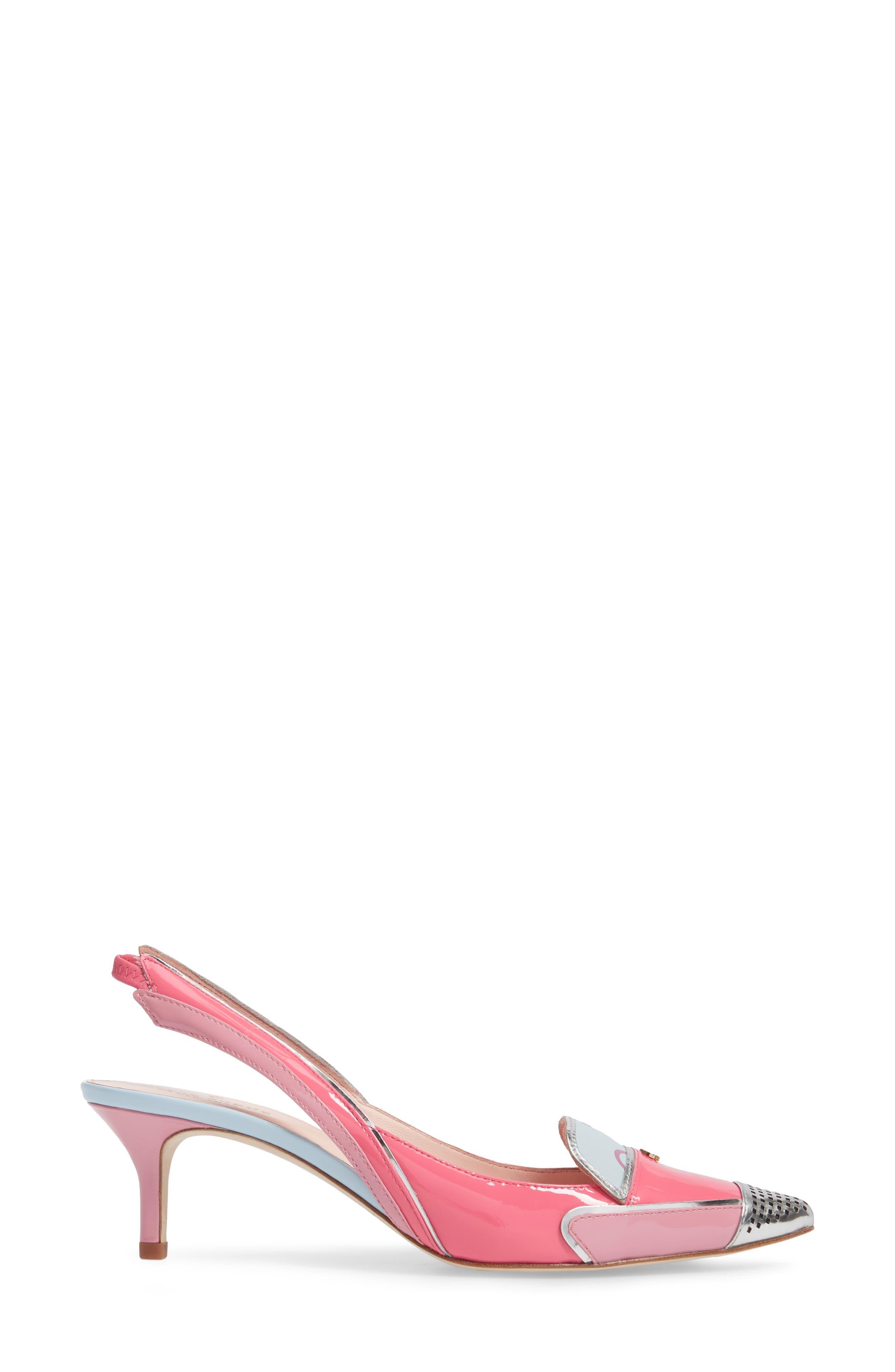 paulina slingback pump,                             Alternate thumbnail 3, color,                             666