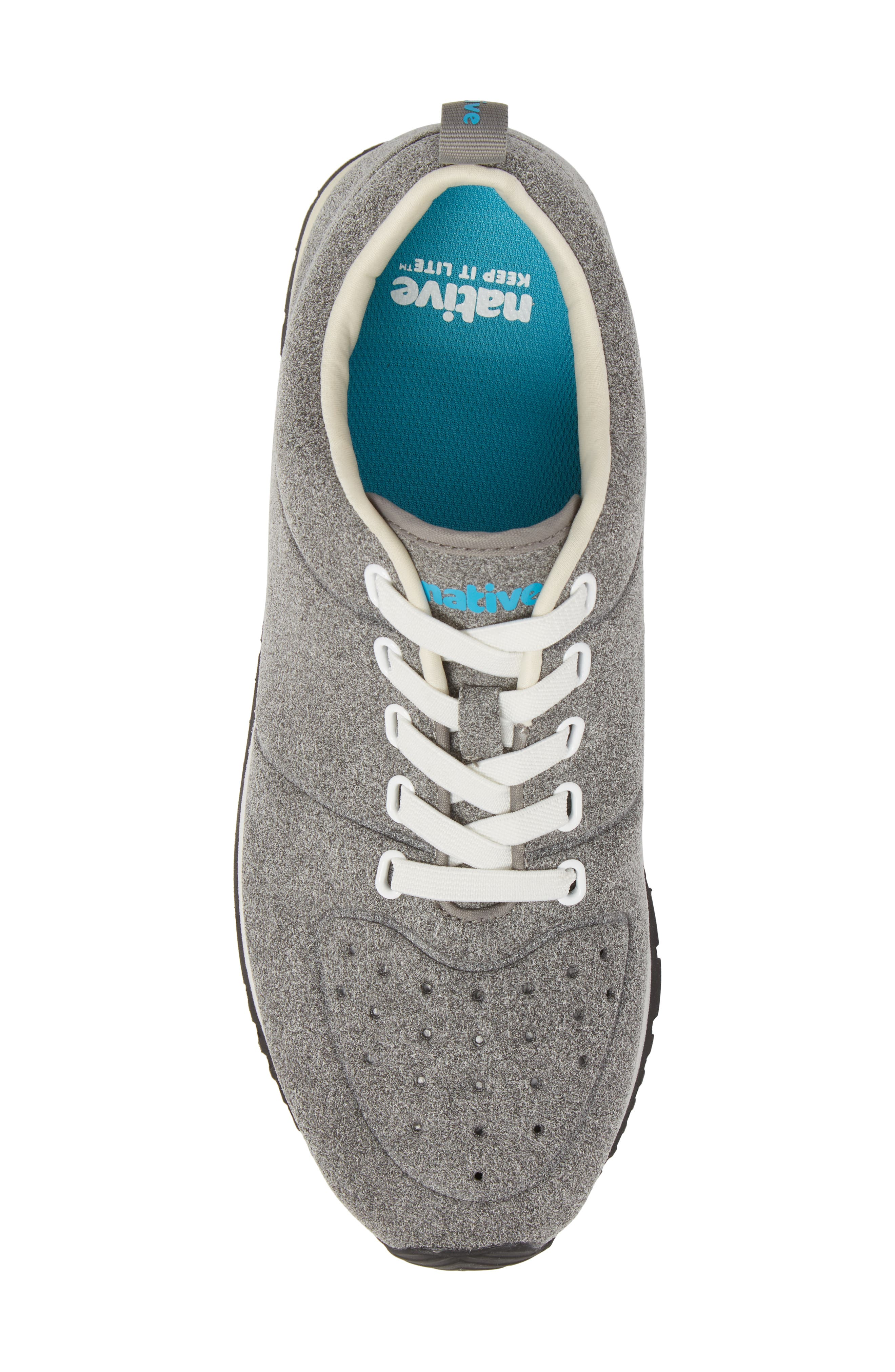 Cornell Perforated Sneaker,                             Alternate thumbnail 5, color,                             PIGEON GREY/ SHELL WHITE