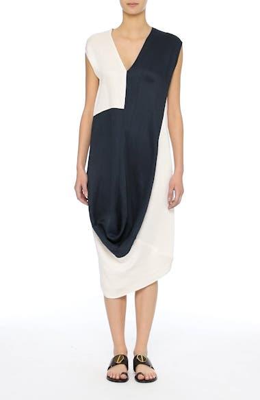 Colorblock Drape Dress, video thumbnail