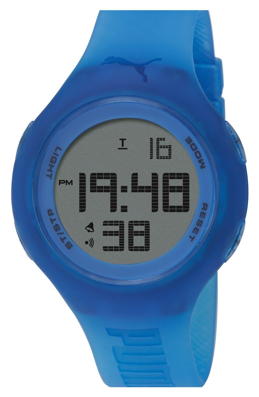 PUMA 'Loop' Digital Watch, 44mm, Main, color, 400