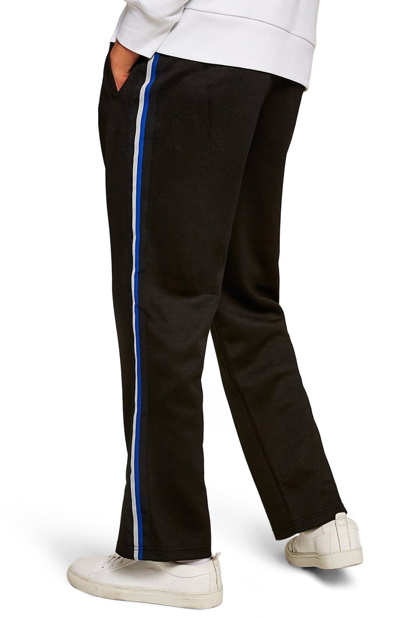 Classic Tricot Taped Jogger Pants,                             Alternate thumbnail 2, color,                             BLACK MULTI