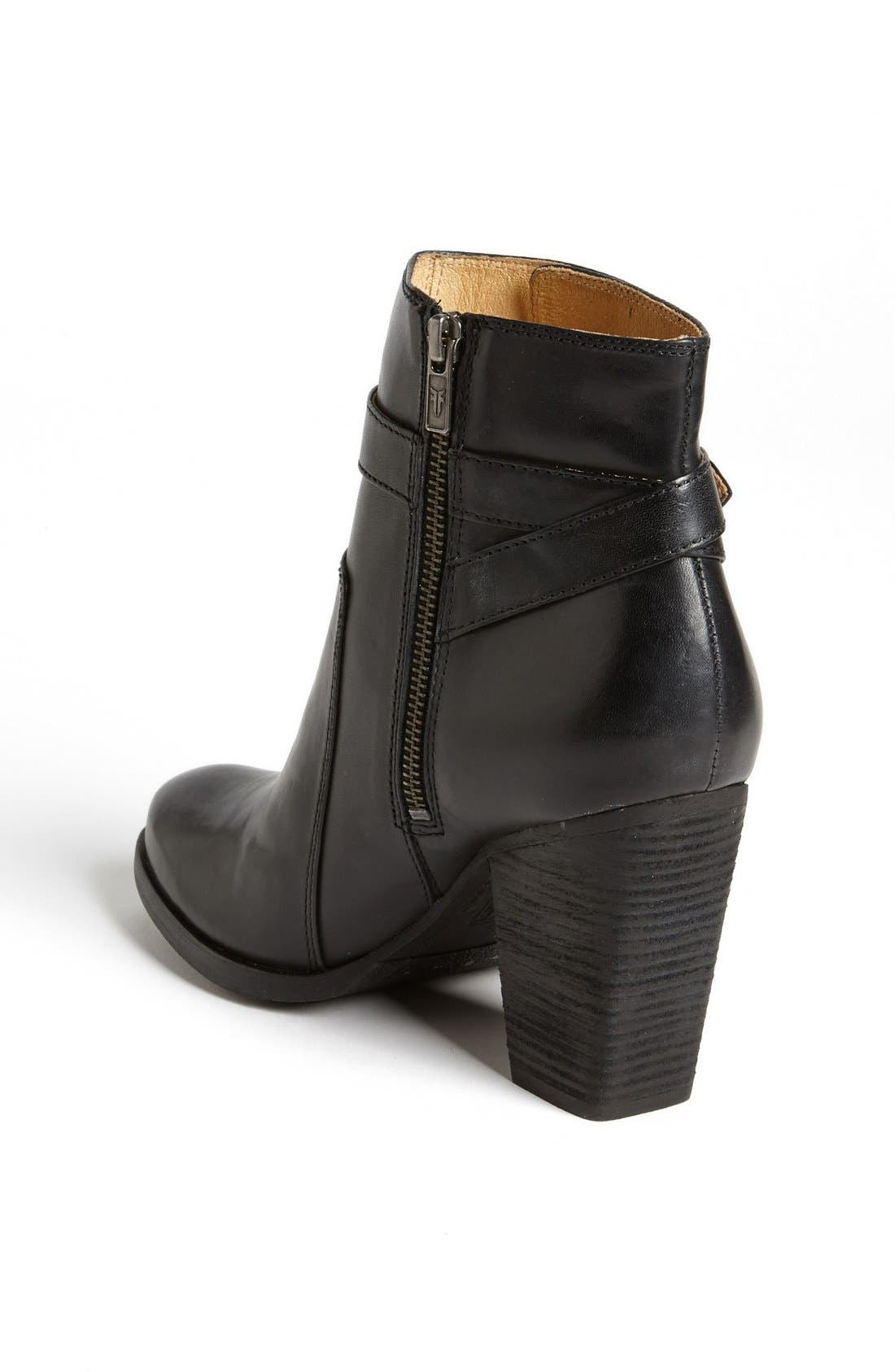 'Patty' Leather Riding Bootie,                             Alternate thumbnail 5, color,                             001