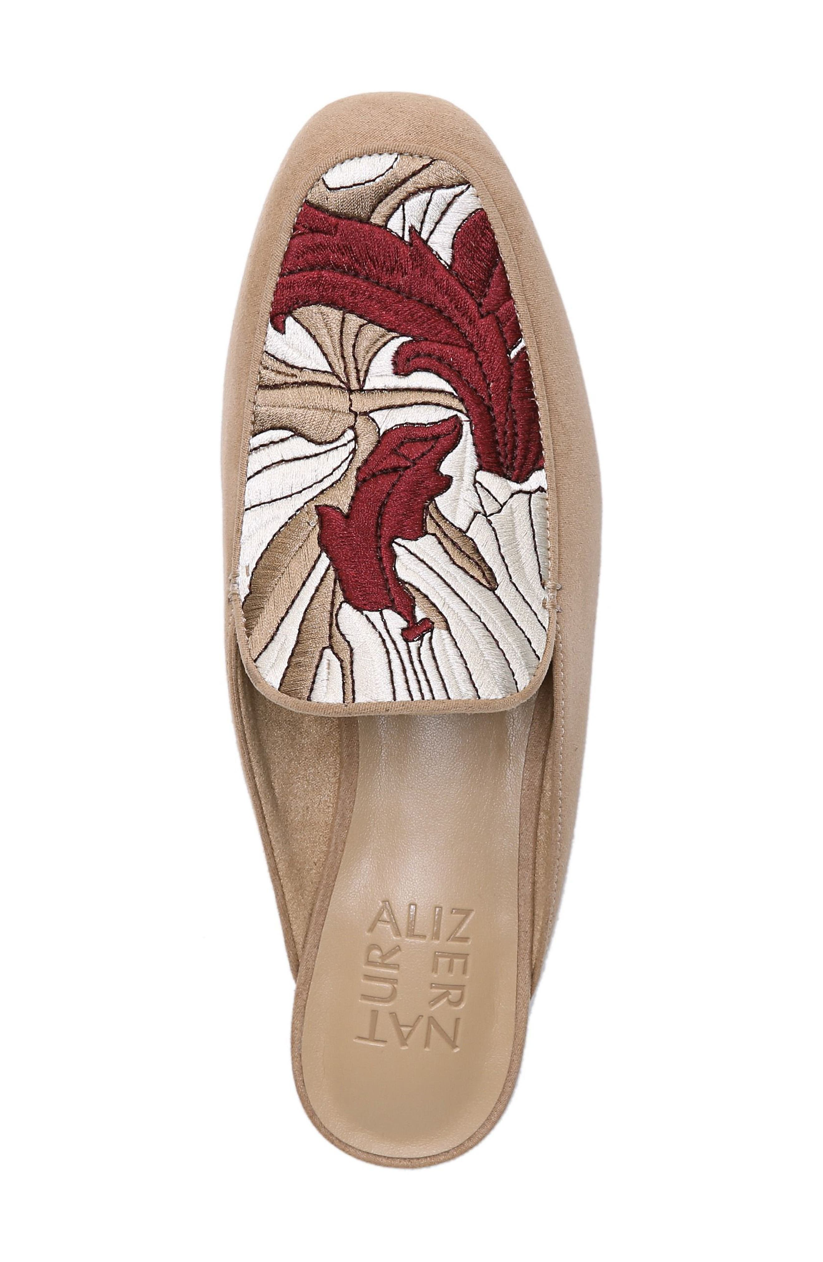 Eden II Embroidered Mule,                             Alternate thumbnail 5, color,                             BARLEY FABRIC