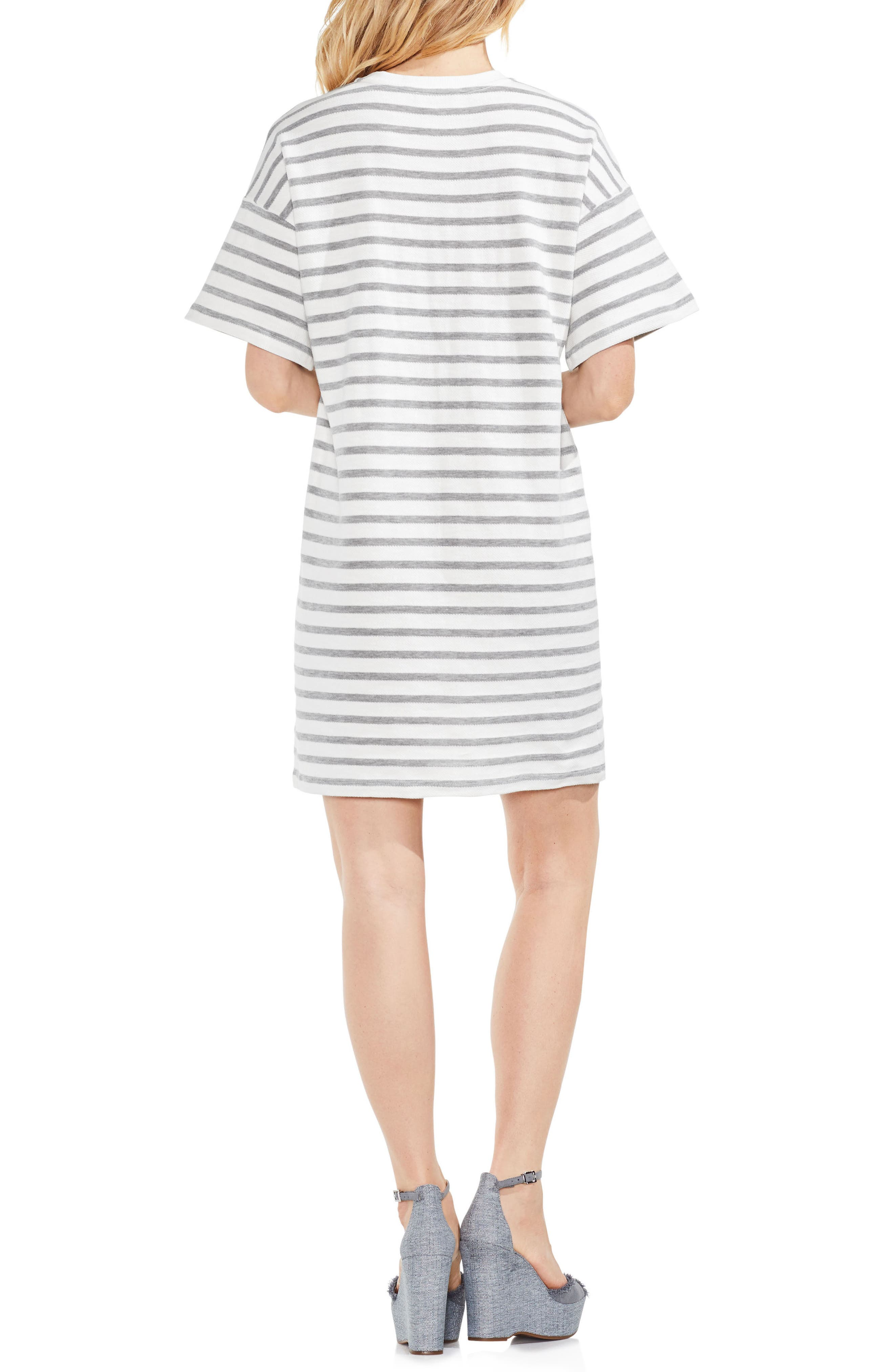 Drop Shoulder Stripe Shift Dress,                             Alternate thumbnail 2, color,