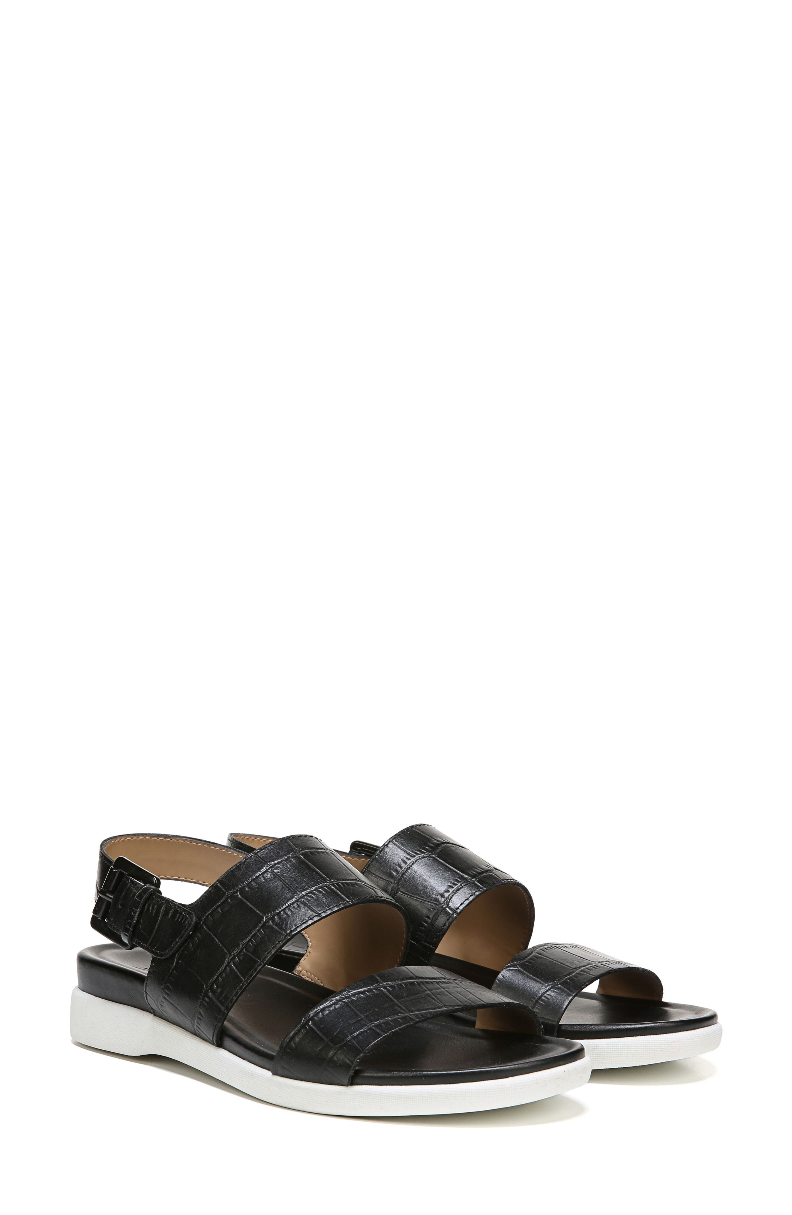 Emory Wedge Sandal,                             Alternate thumbnail 8, color,                             BLACK PRINTED LEATHER