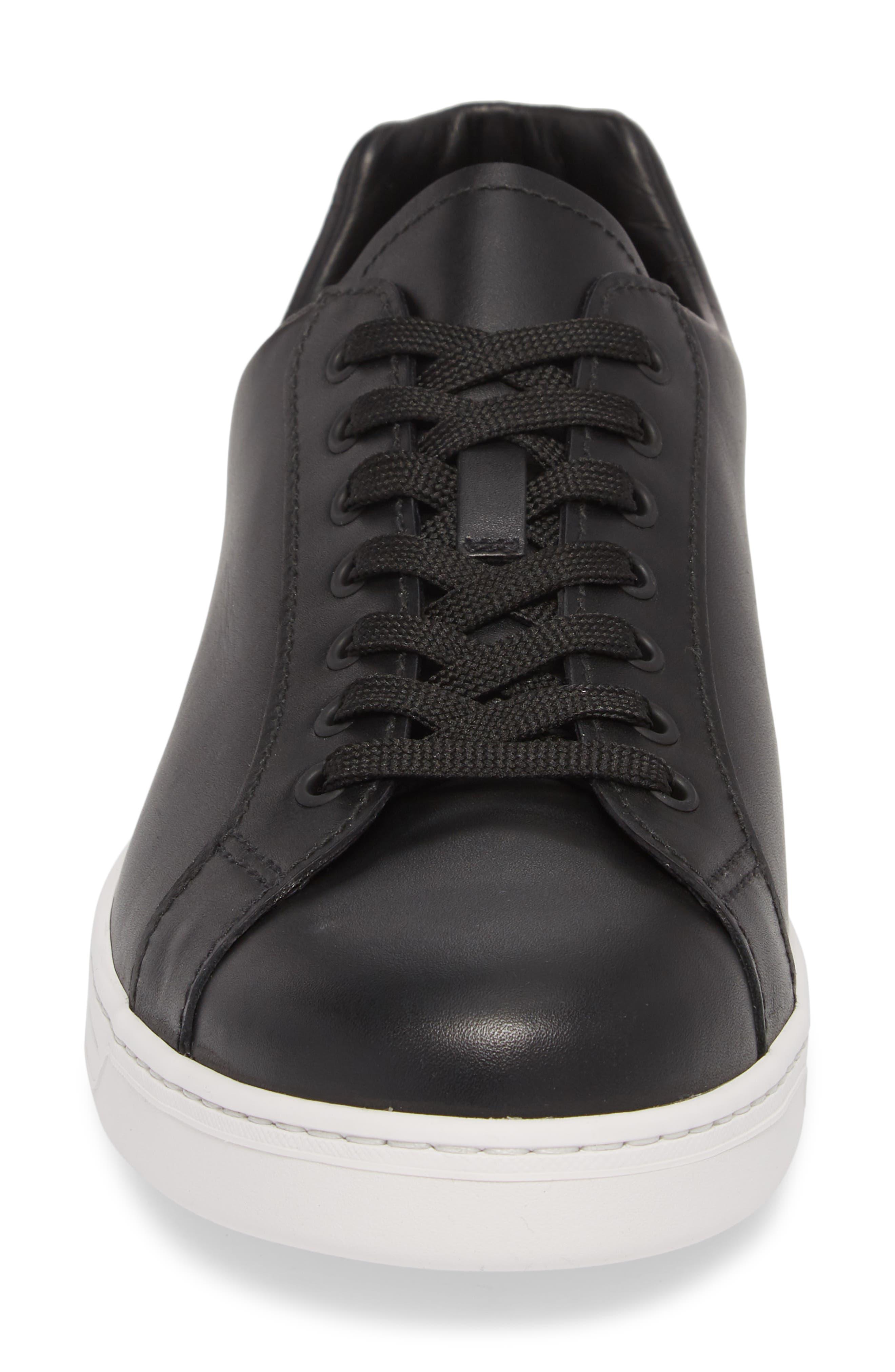 PRADA LINEA ROSSA,                             Patch Low Top Sneaker,                             Alternate thumbnail 4, color,                             012