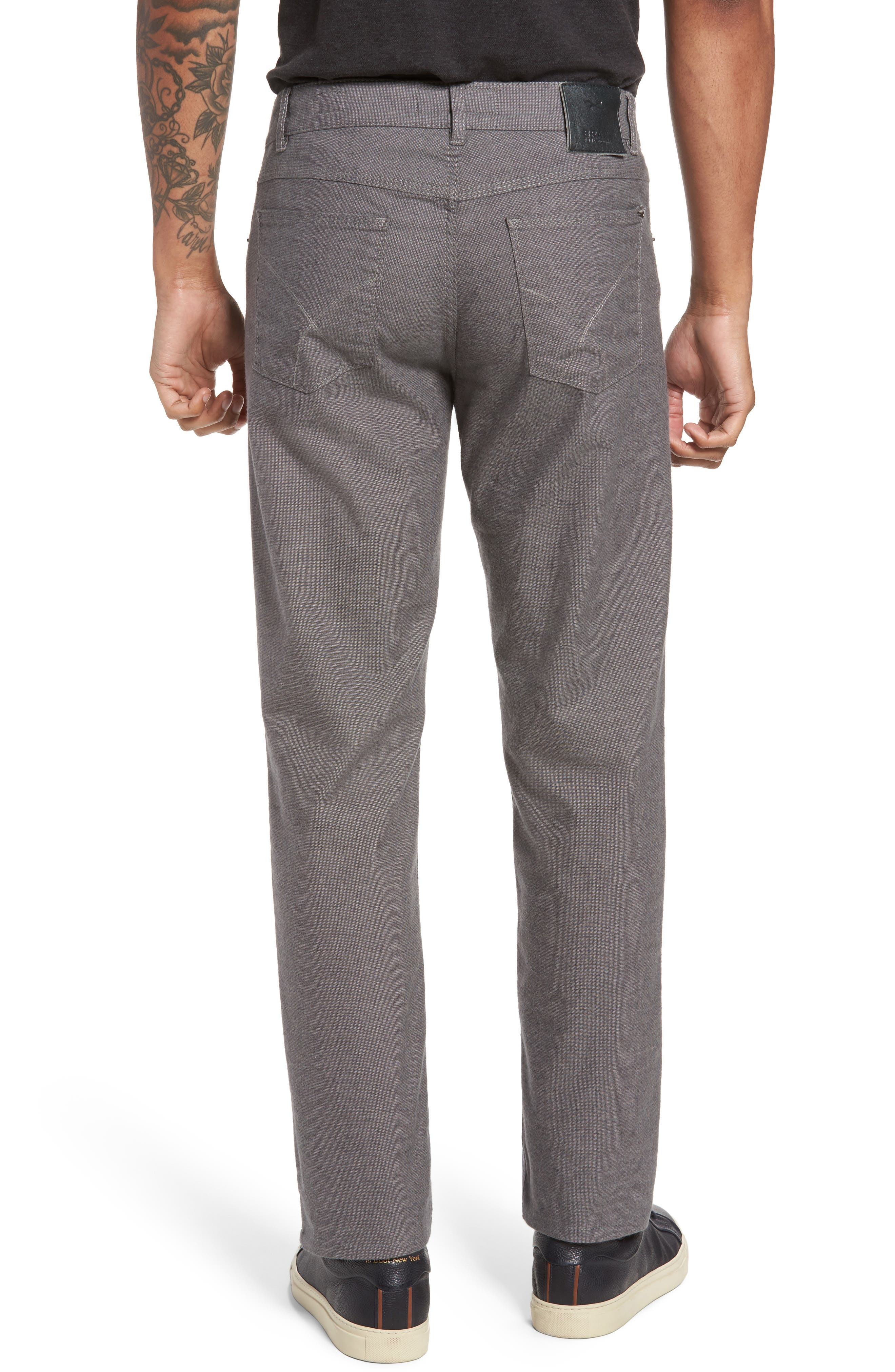 Five-Pocket Stretch Cotton Trousers,                             Alternate thumbnail 8, color,