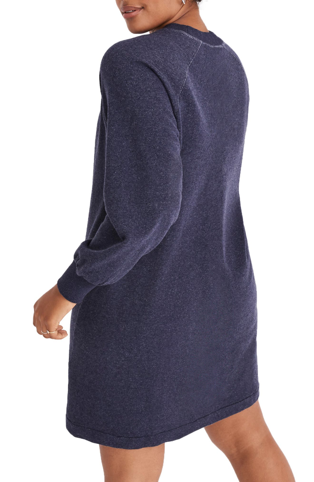 Bubble Sleeve Sweatshirt Dress,                             Alternate thumbnail 6, color,                             400