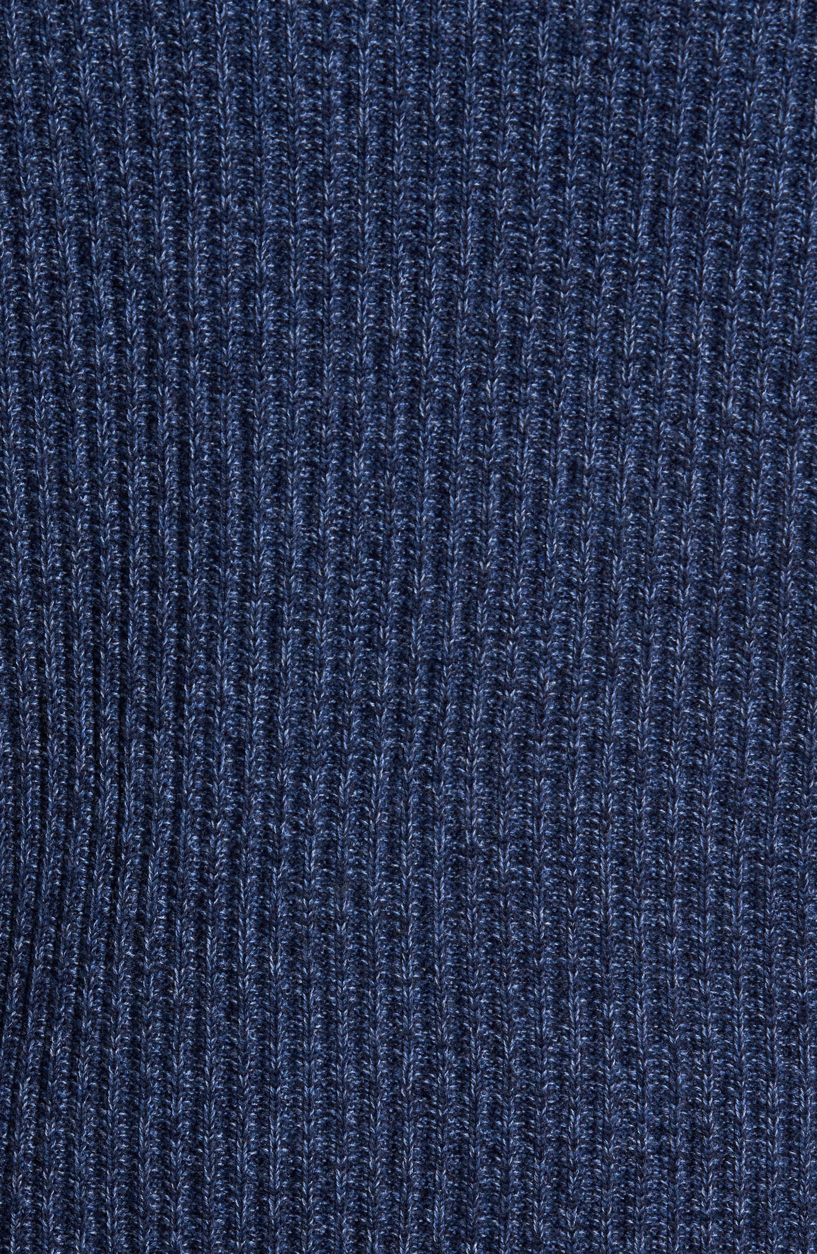Medina Marl Cotton Sweater,                             Alternate thumbnail 5, color,                             001