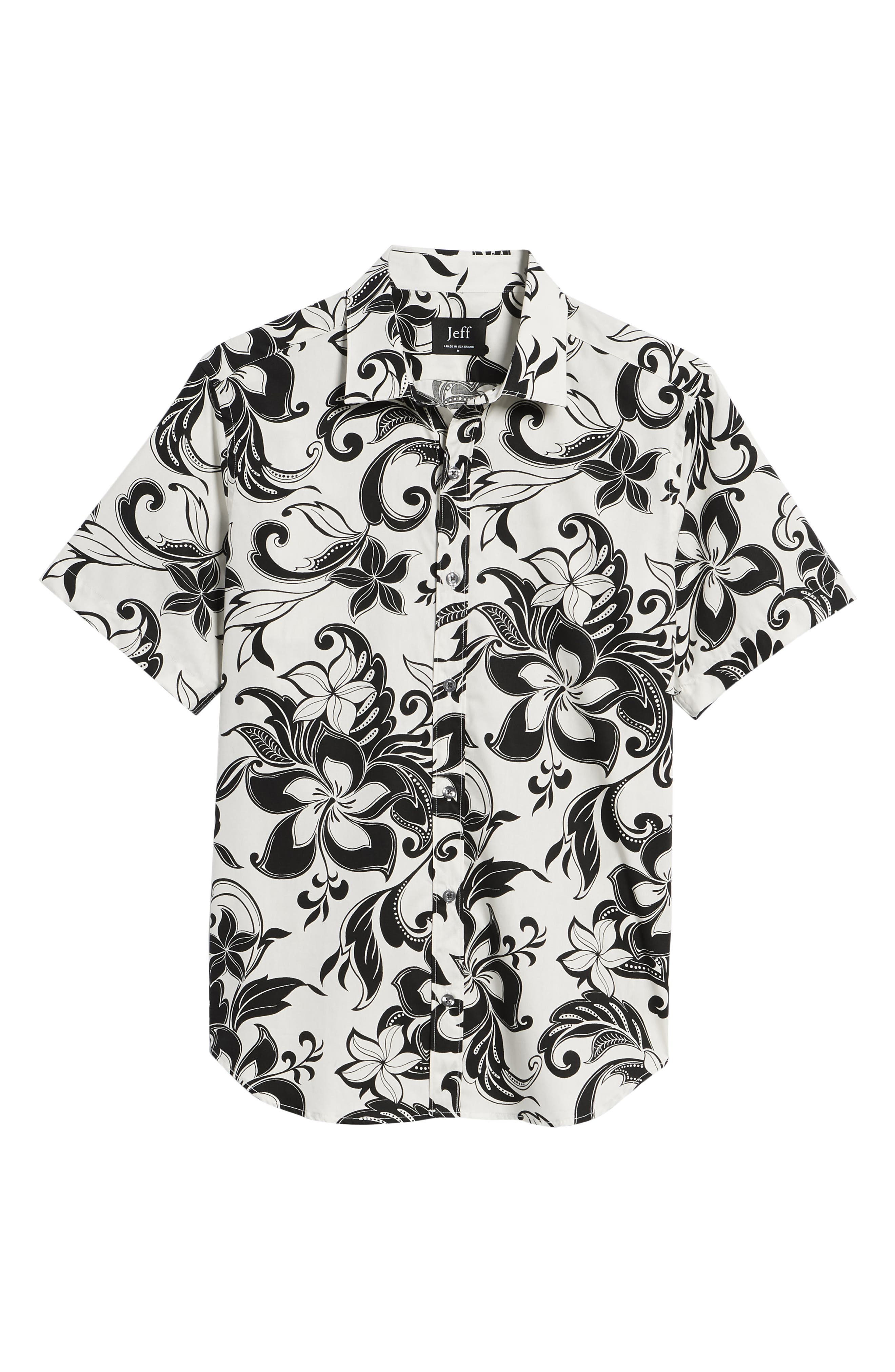 Odessa Tailored Fit Floral Sport Shirt,                             Alternate thumbnail 6, color,                             110