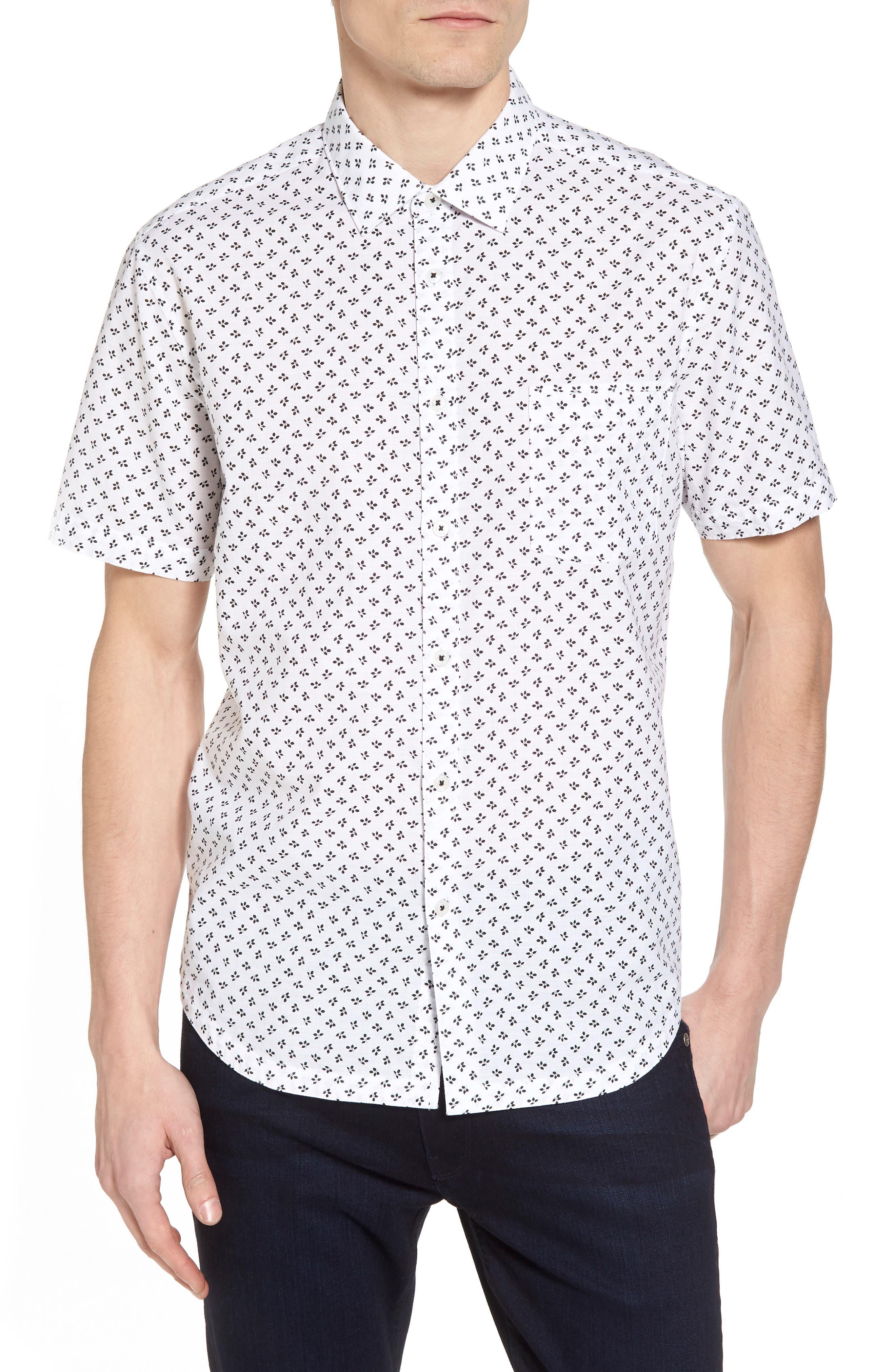 Trim Fit Print Sport Shirt,                             Main thumbnail 1, color,                             100