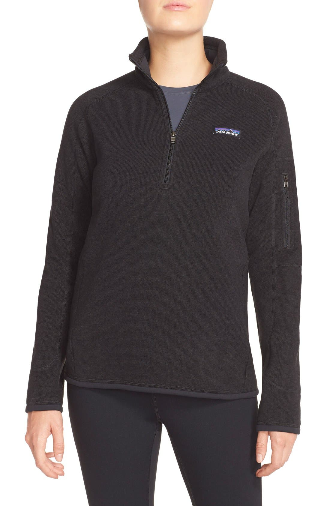 Better Sweater Zip Pullover,                             Main thumbnail 1, color,                             001
