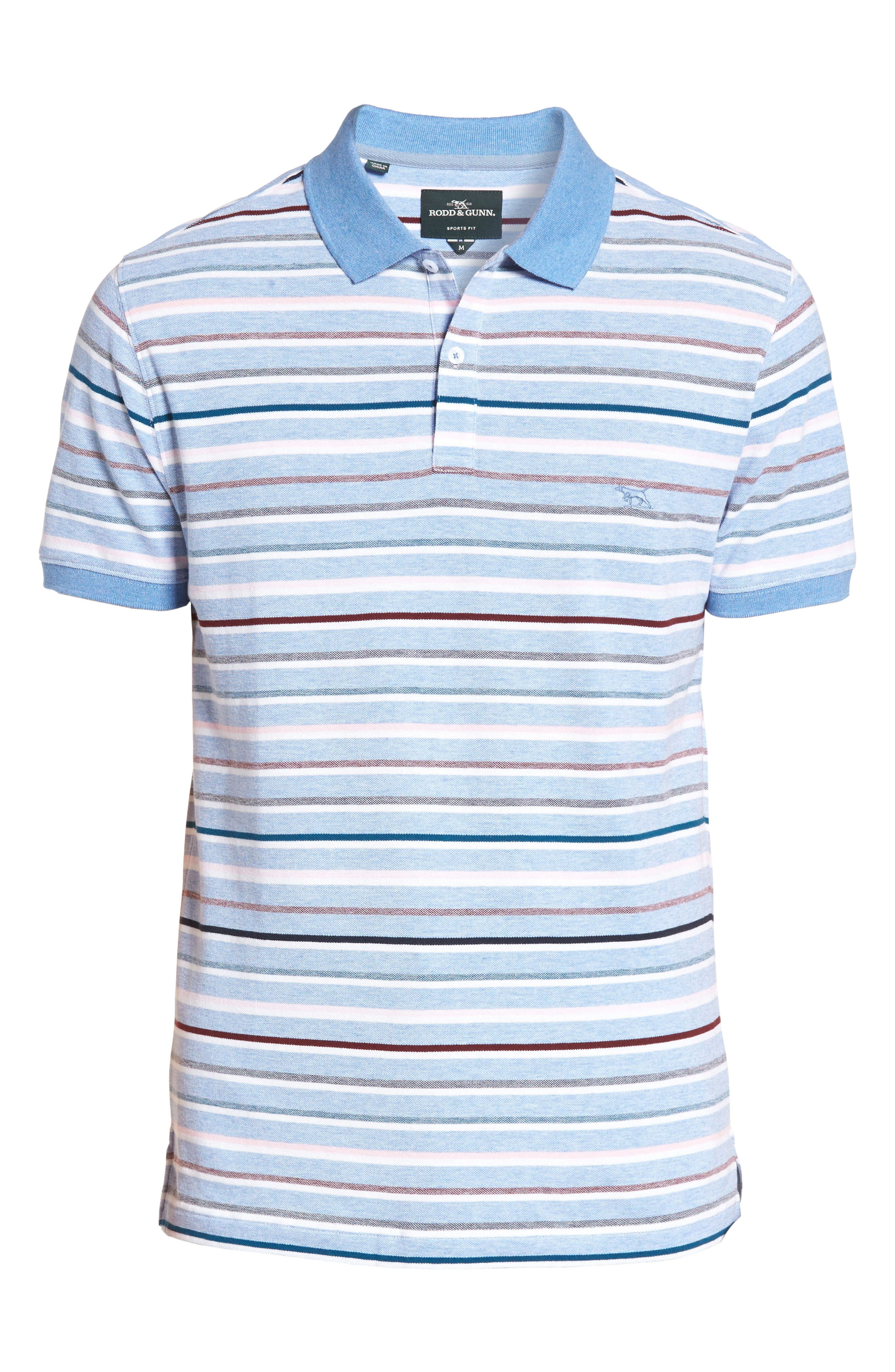 Gowan Hill Sports Fit Cotton Polo,                             Alternate thumbnail 6, color,                             457
