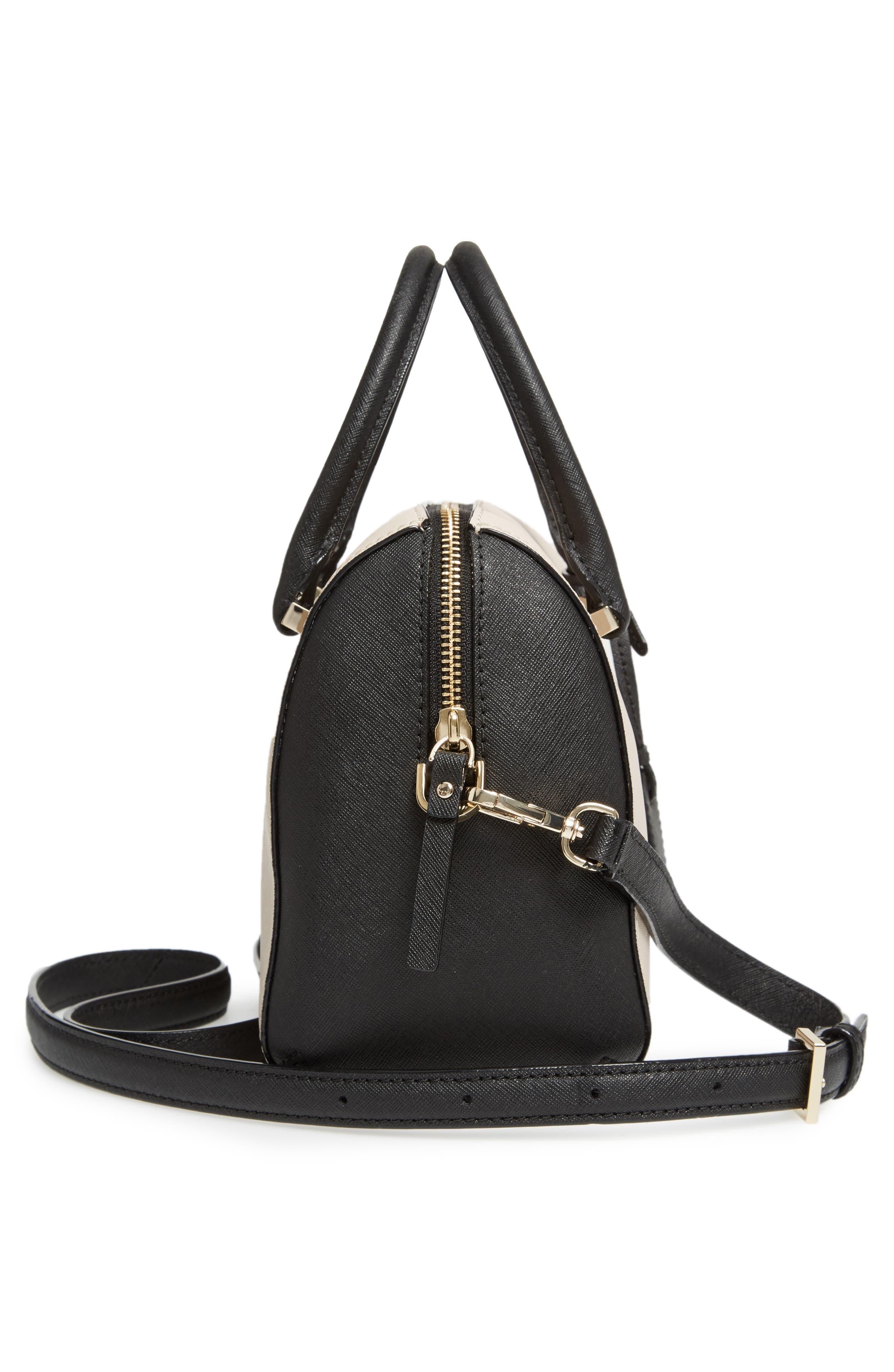 cameron street large lane leather satchel,                             Alternate thumbnail 5, color,                             005