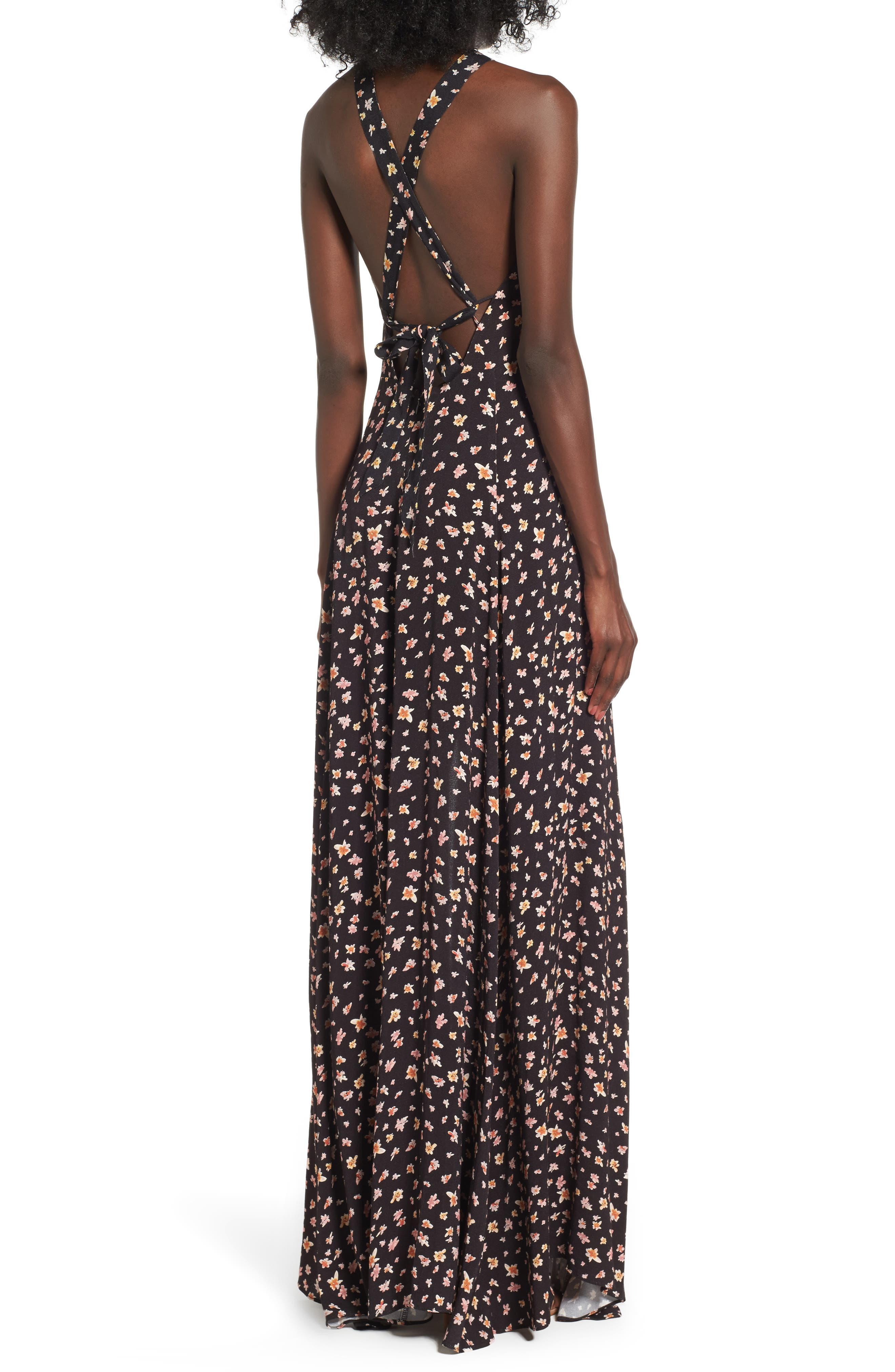 Harlean Halter Maxi Dress,                             Alternate thumbnail 2, color,                             010