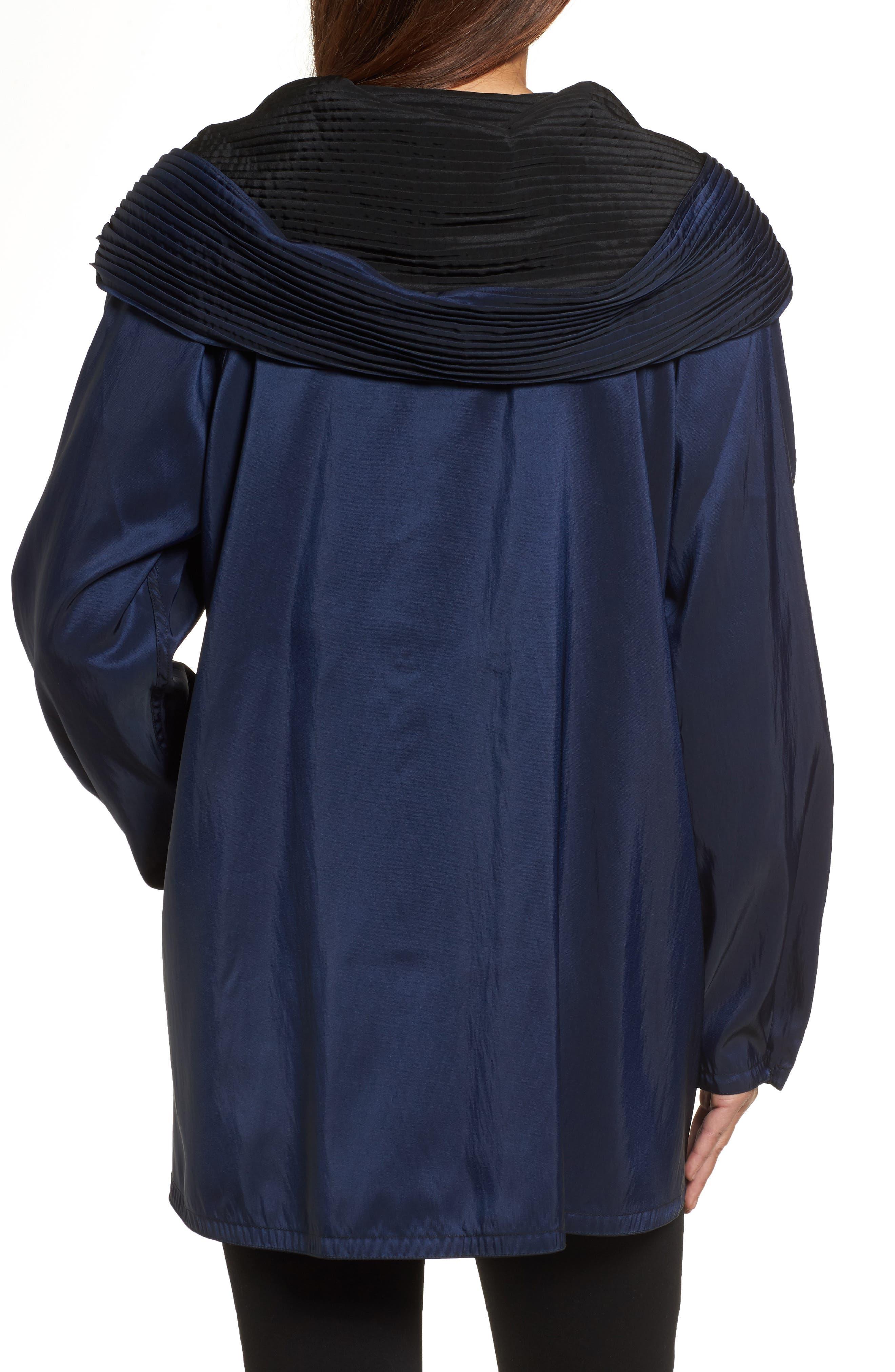 'Mini Donatella' Reversible Pleat Hood Packable Travel Coat,                             Alternate thumbnail 17, color,