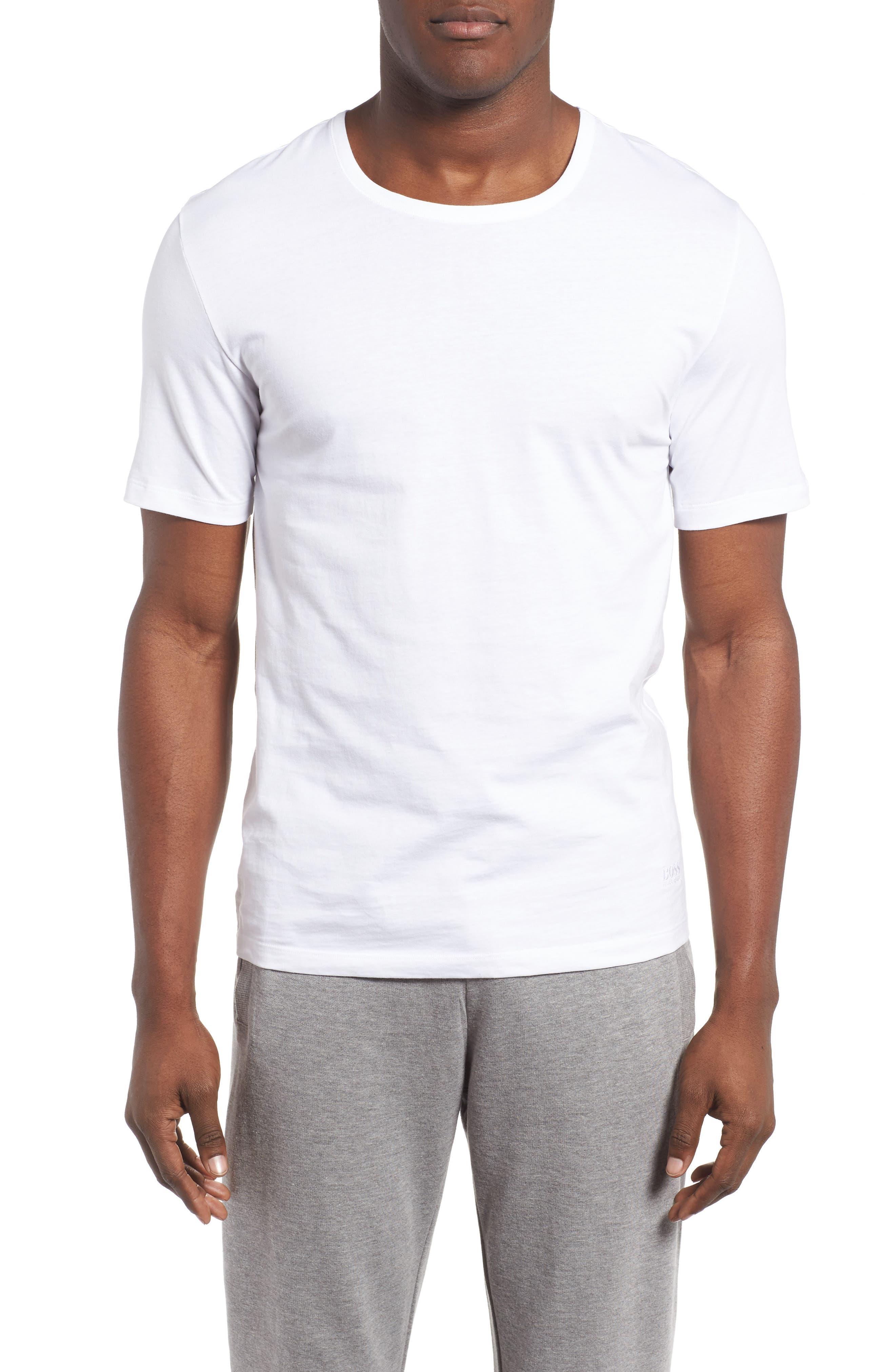 3-Pack Crewneck Cotton T-Shirt,                             Alternate thumbnail 2, color,                             WHITE