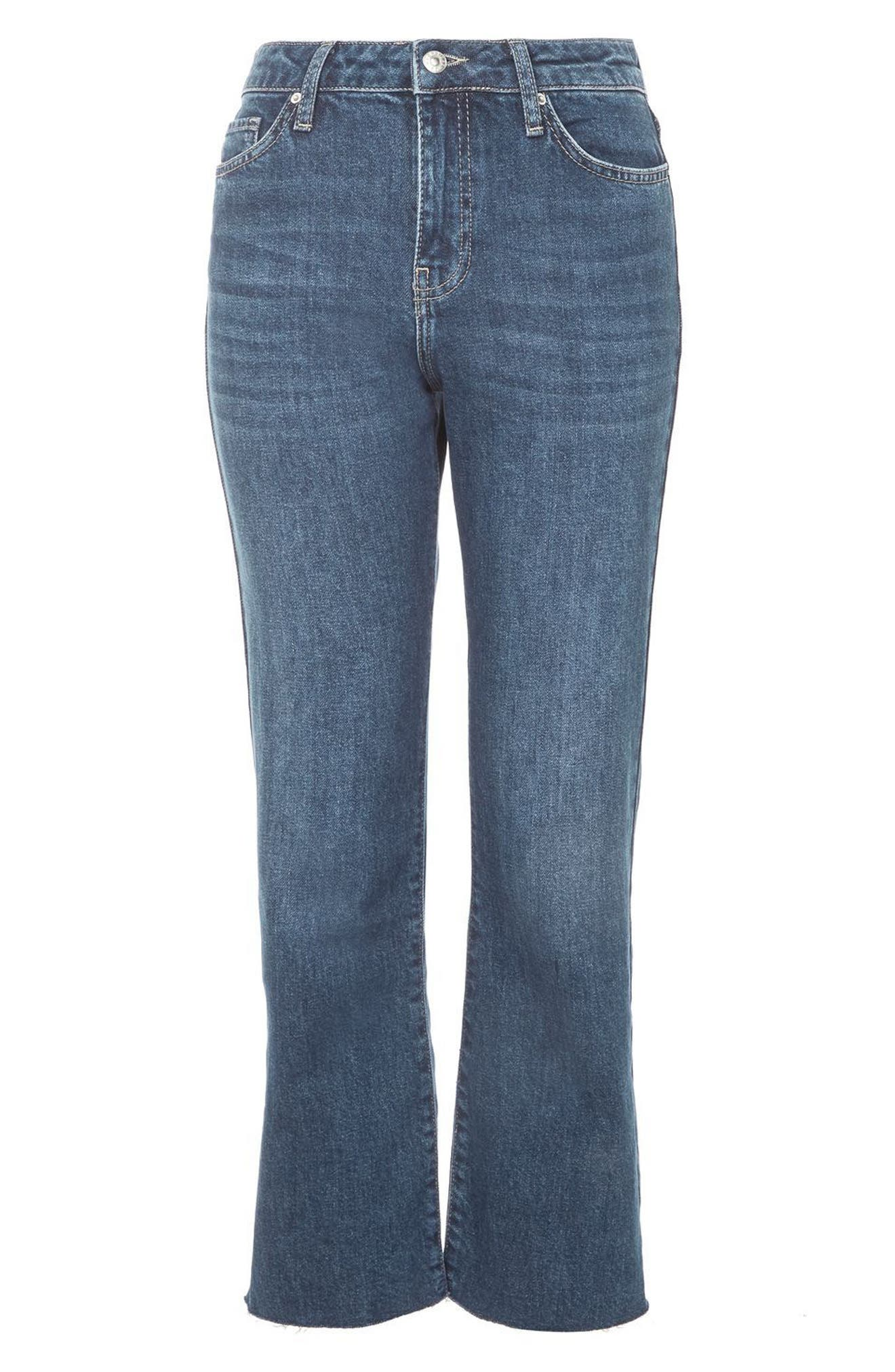 Weekend Dree Crop Flare Jeans,                             Alternate thumbnail 3, color,                             400