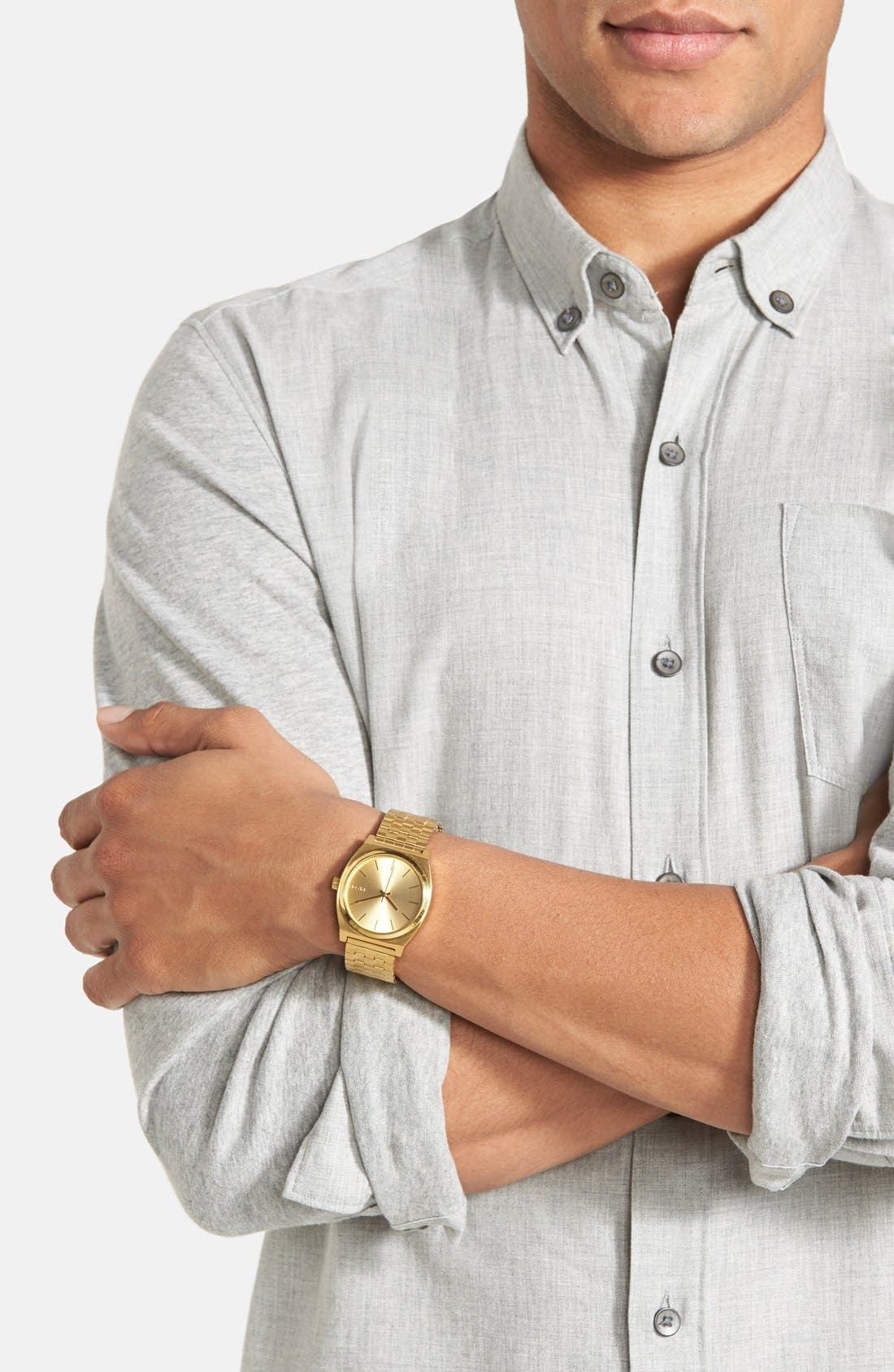 'The Time Teller' Watch, 37mm,                             Alternate thumbnail 5, color,                             GOLD