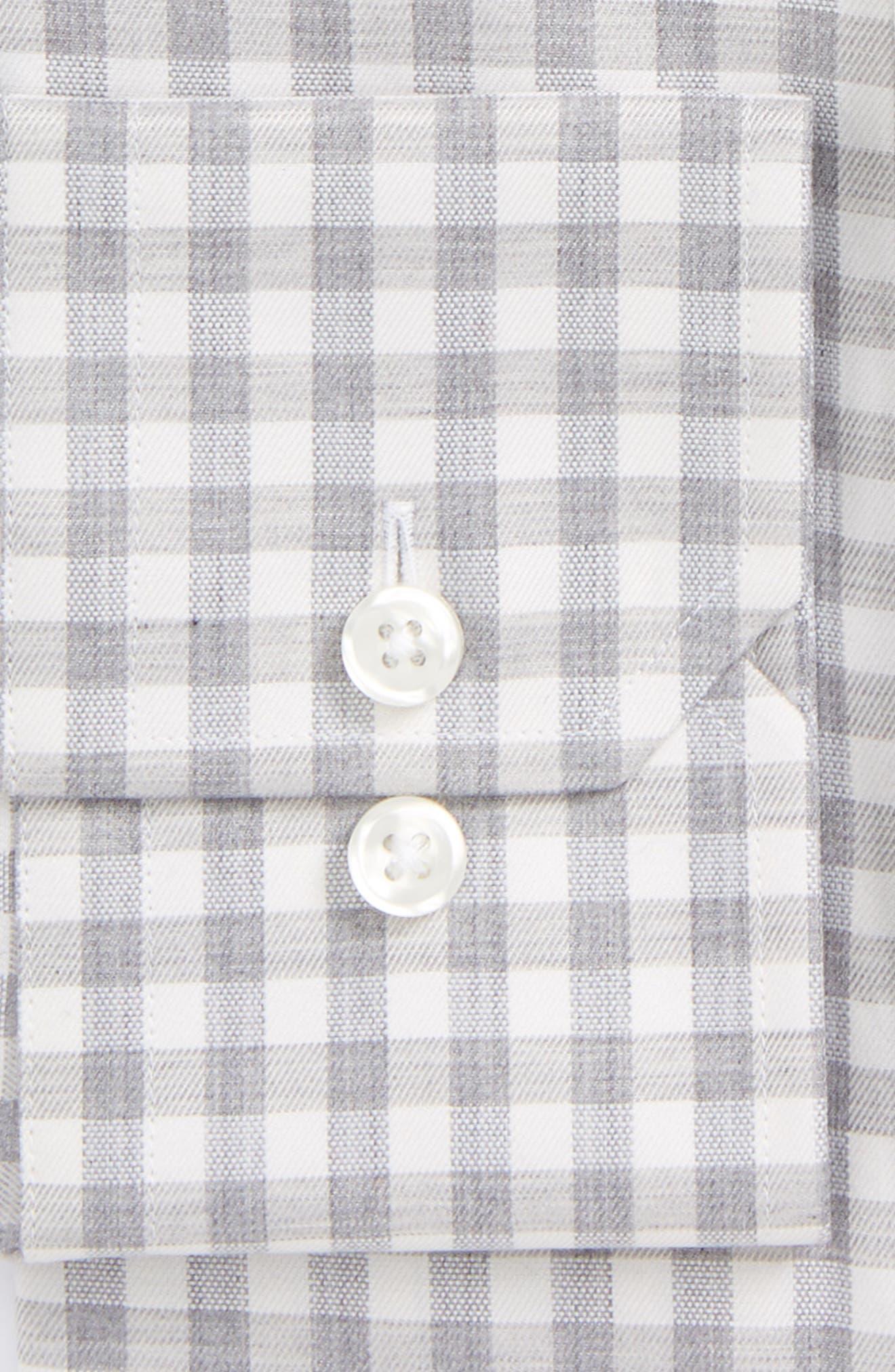 Extra Trim Fit Check Dress Shirt,                             Alternate thumbnail 2, color,                             034