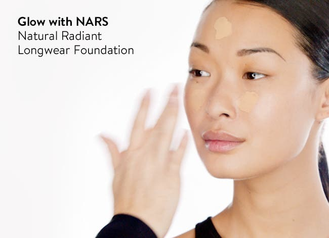 Glow with NARS Natural Radiant Longwear Foundation.