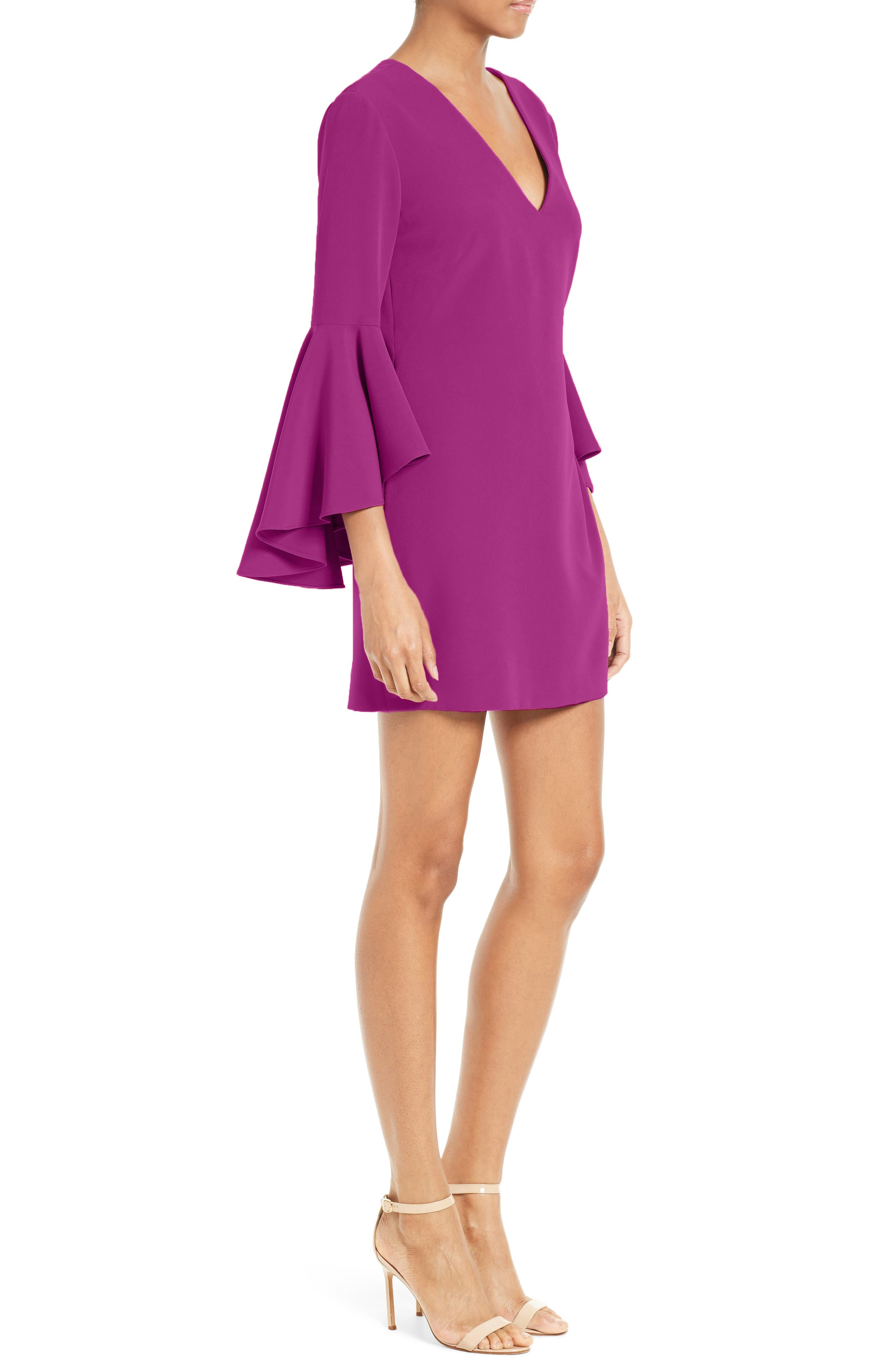 Nicole Bell Sleeve Dress,                             Alternate thumbnail 41, color,