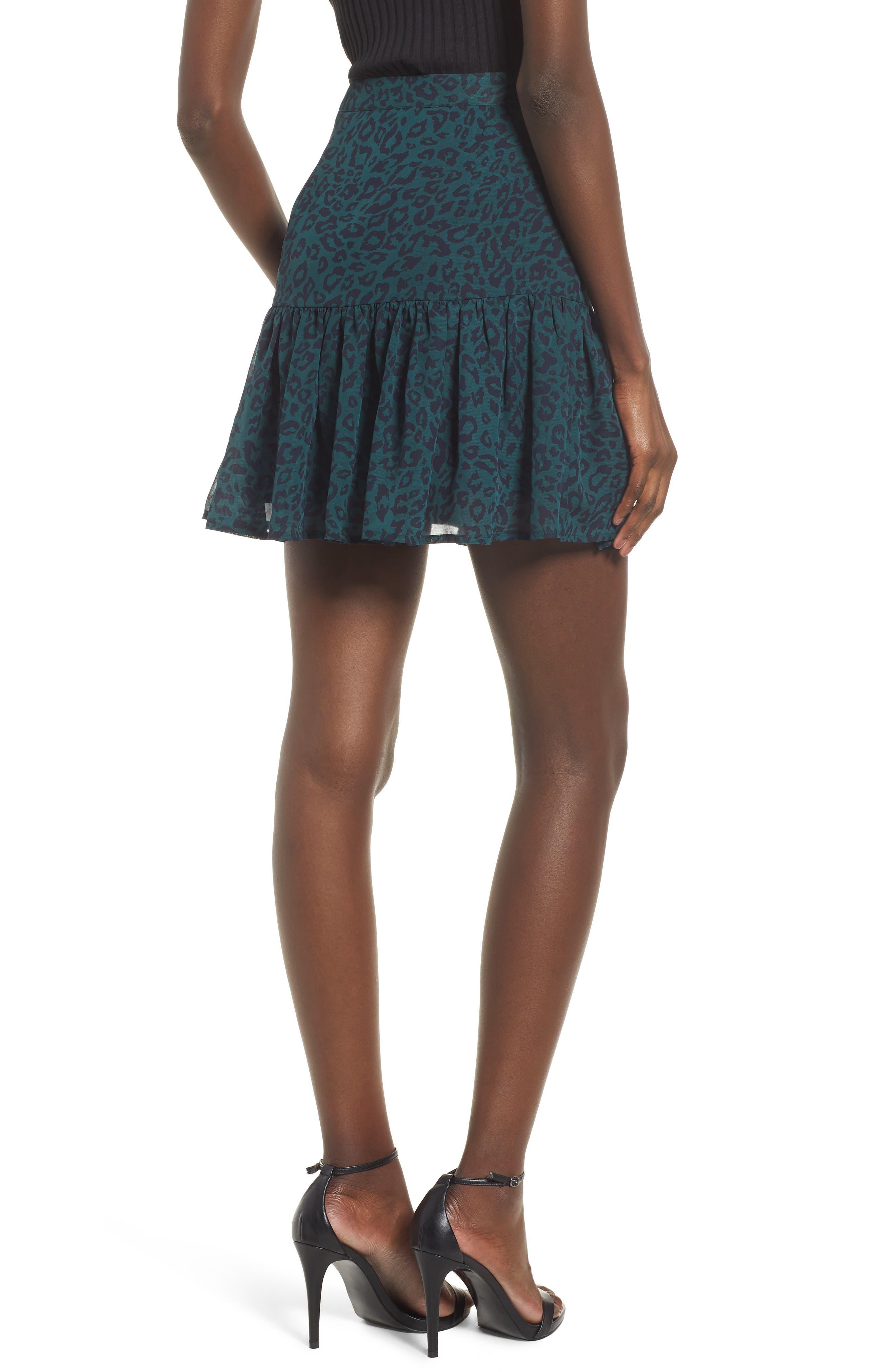 Ruched Ruffle Miniskirt,                             Alternate thumbnail 2, color,                             300