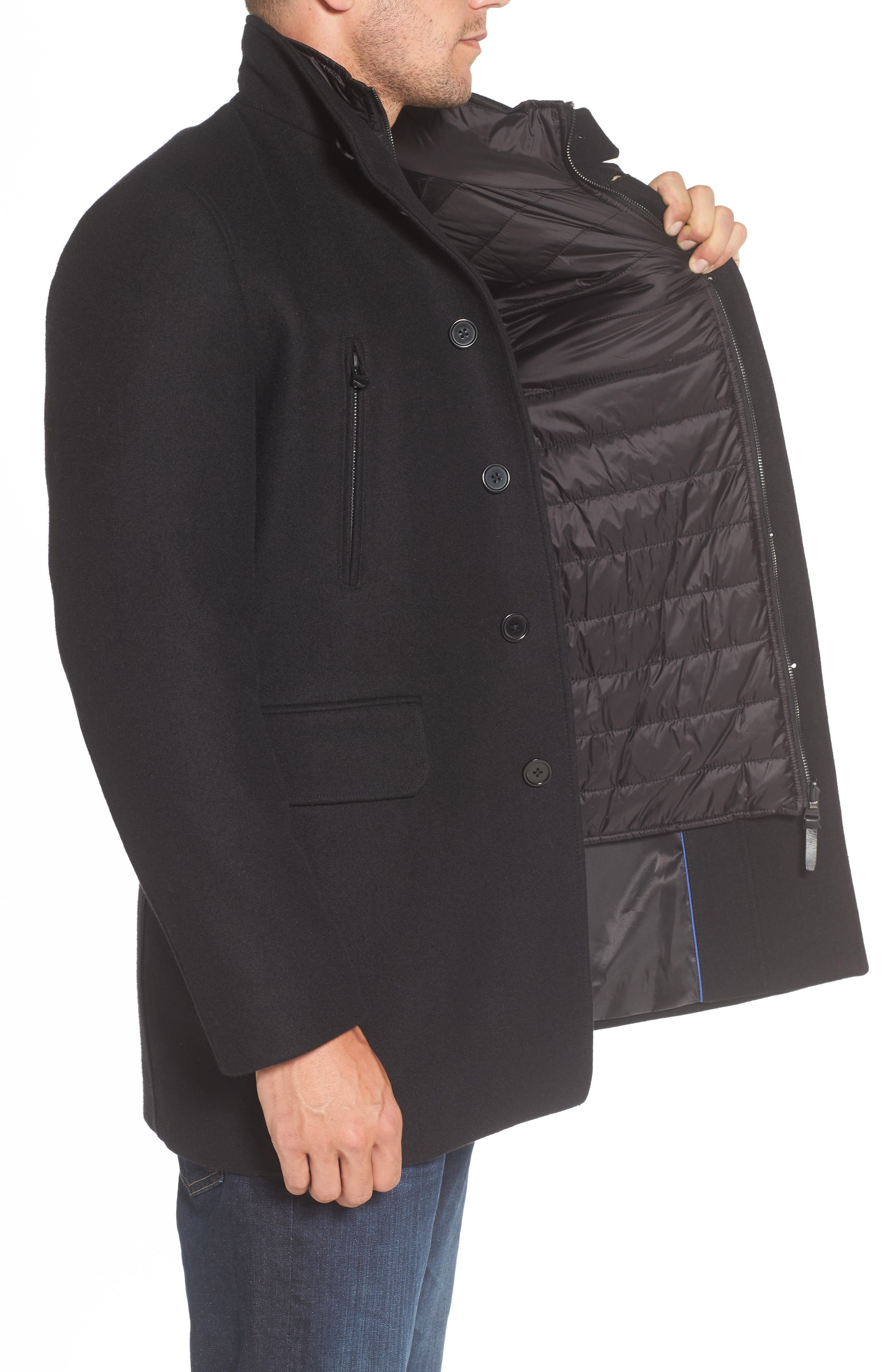 Wool Blend 3-in-1 Topcoat,                             Alternate thumbnail 3, color,                             001