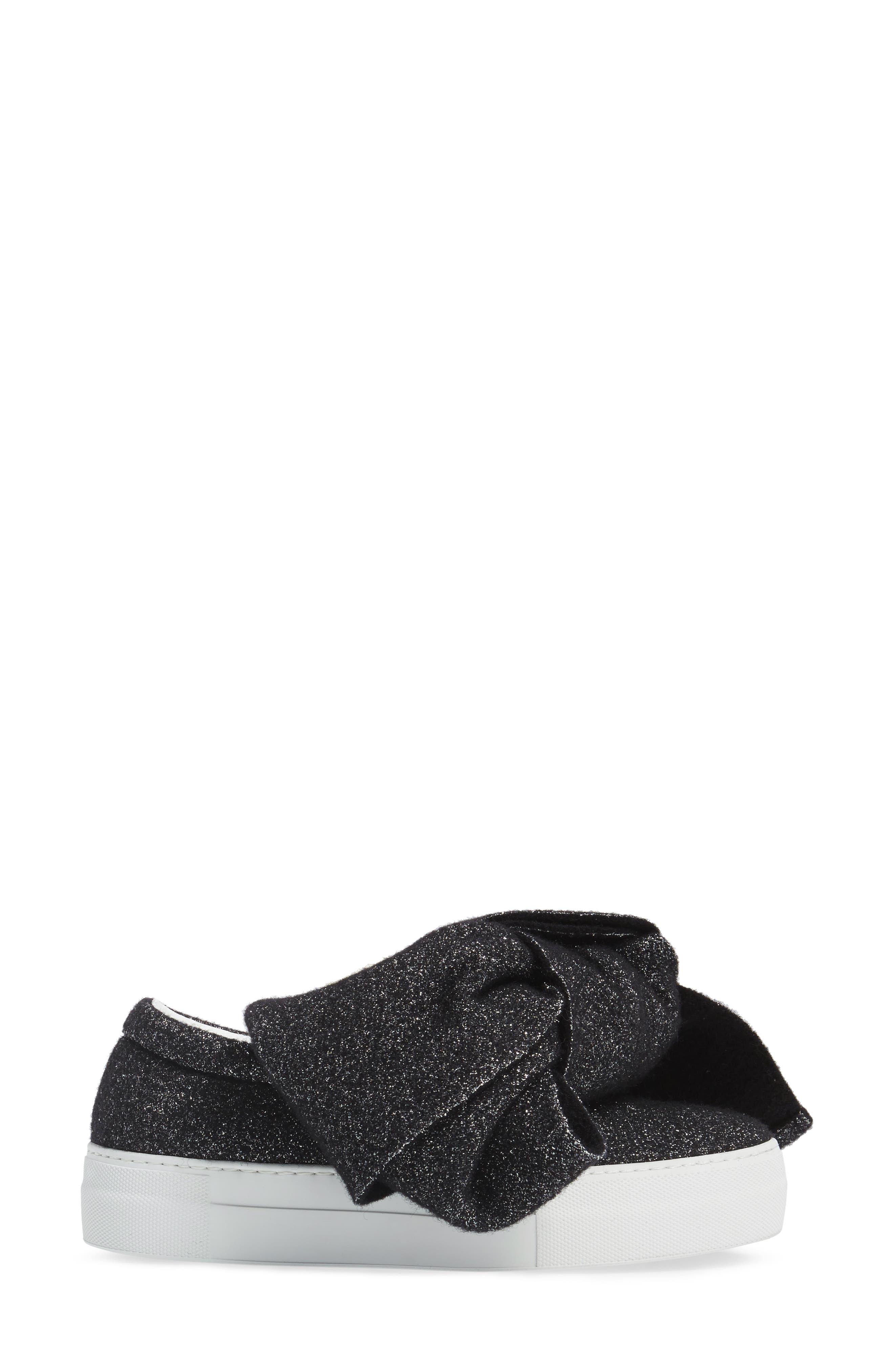 Bow Slip-On Sneaker,                             Alternate thumbnail 3, color,                             001