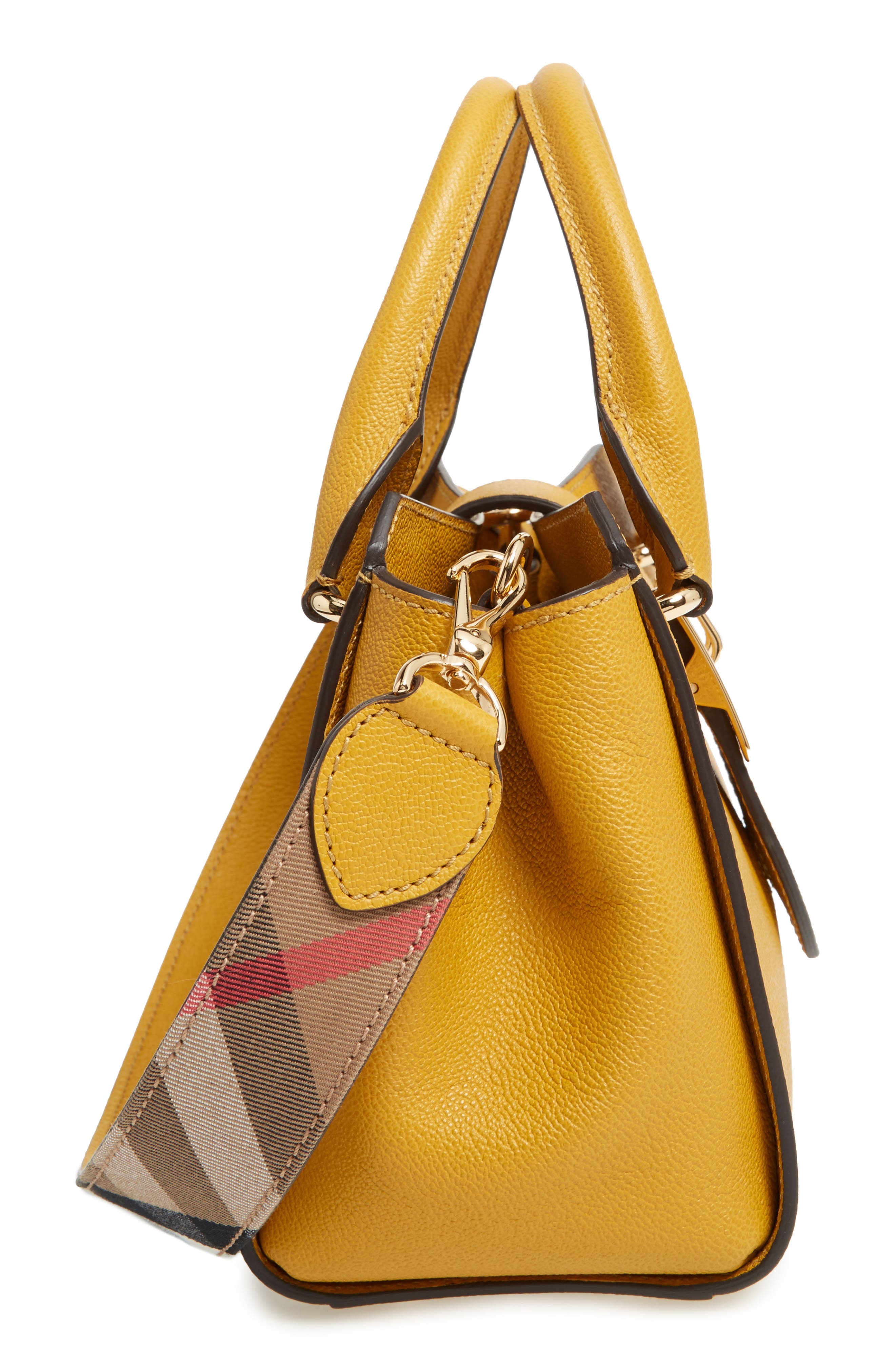 Small Calfskin Leather Tote,                             Alternate thumbnail 6, color,                             722