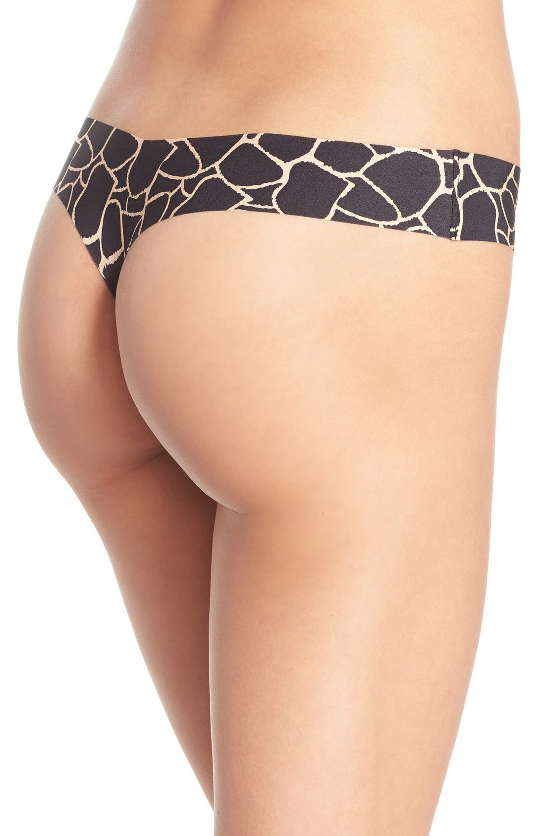 Print Microfiber Thong,                             Alternate thumbnail 134, color,