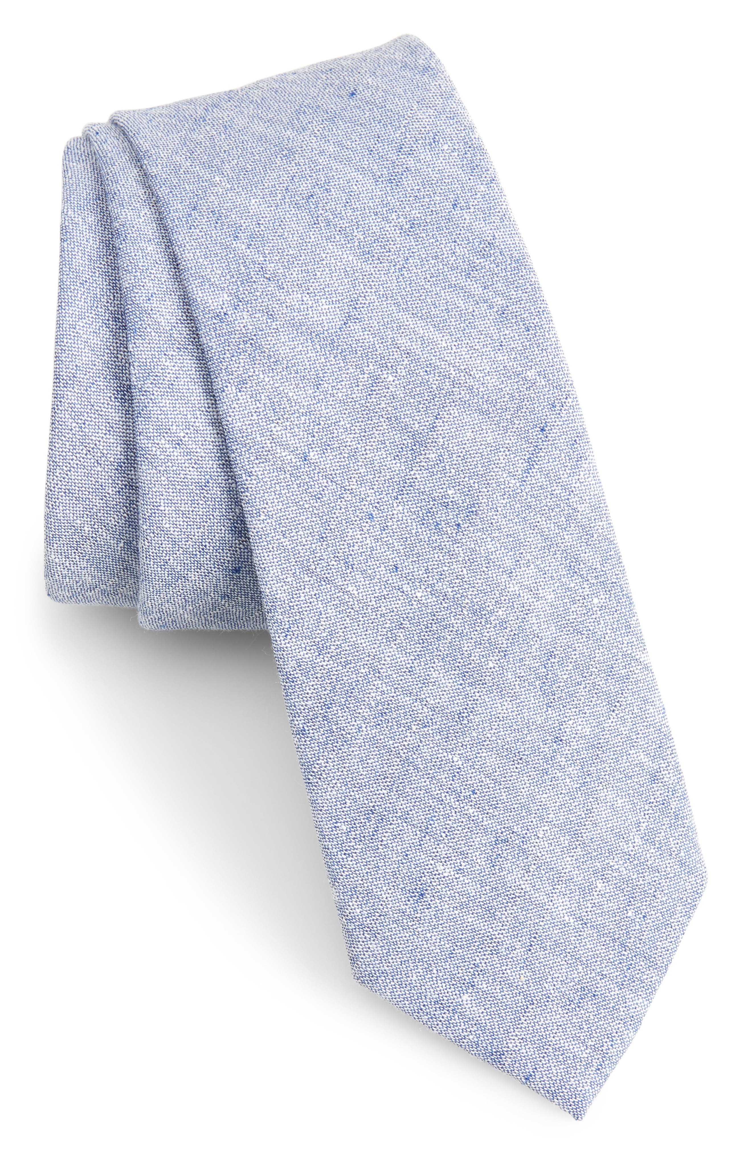 Collins Solid Skinny Tie,                             Main thumbnail 1, color,                             410