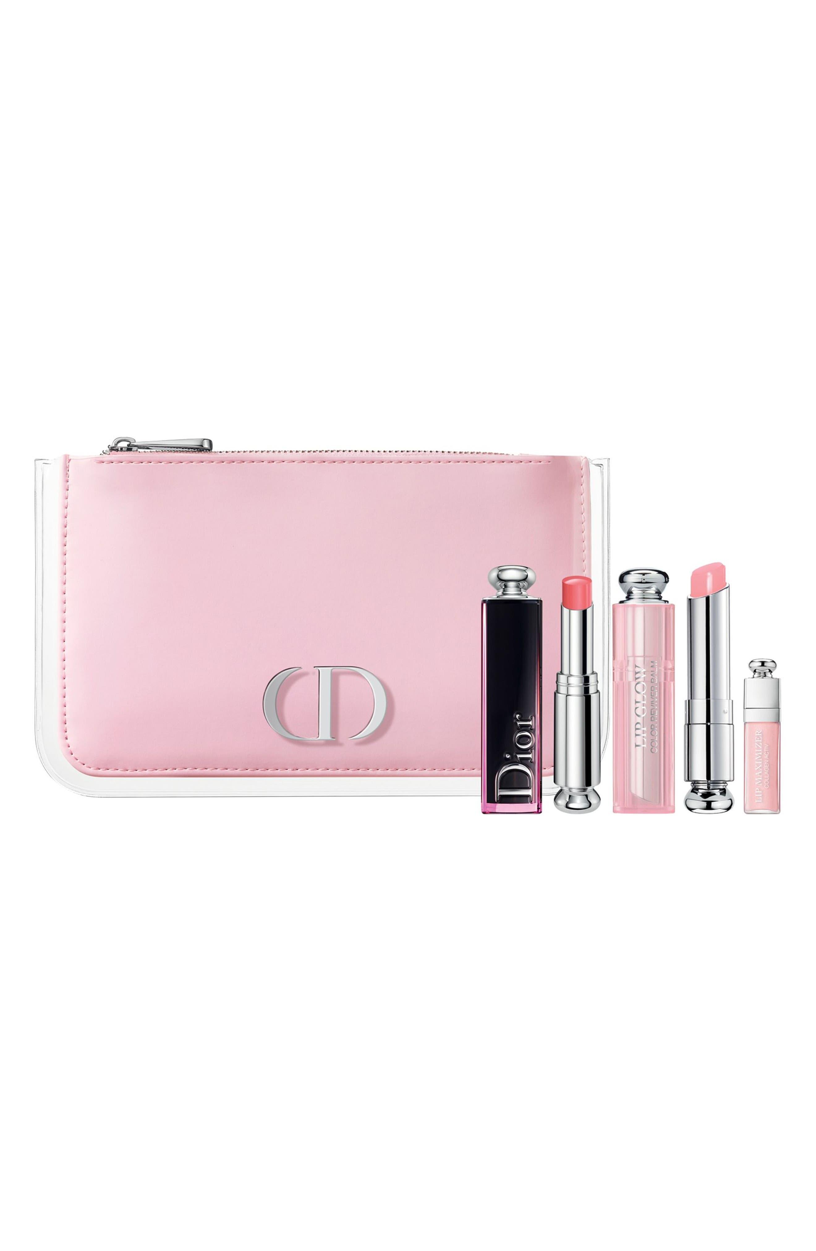 Addict Pink Glow Lip Set,                             Main thumbnail 1, color,                             000