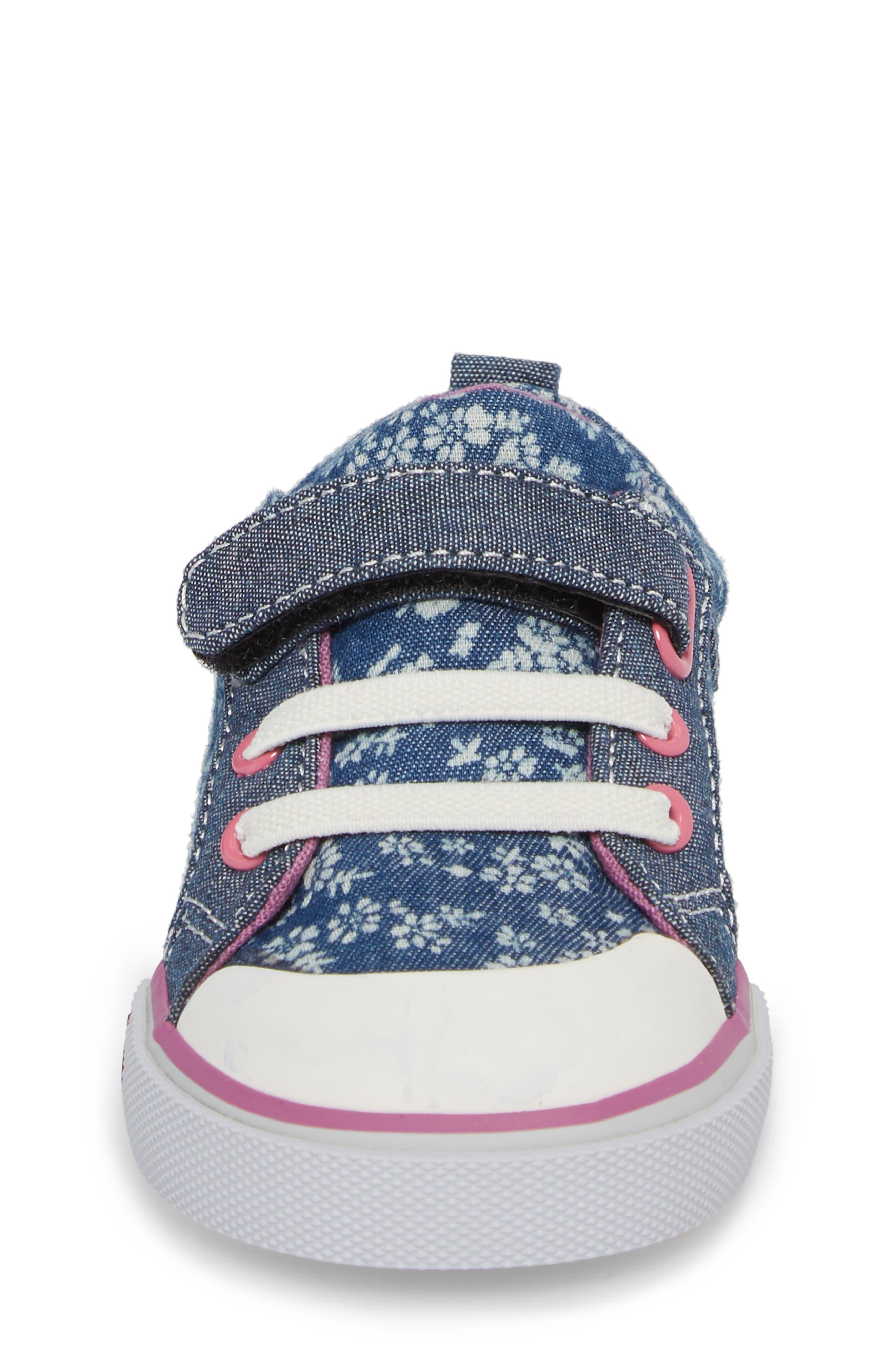 Kristin Sneaker,                             Alternate thumbnail 4, color,                             BLUE FLOWERS