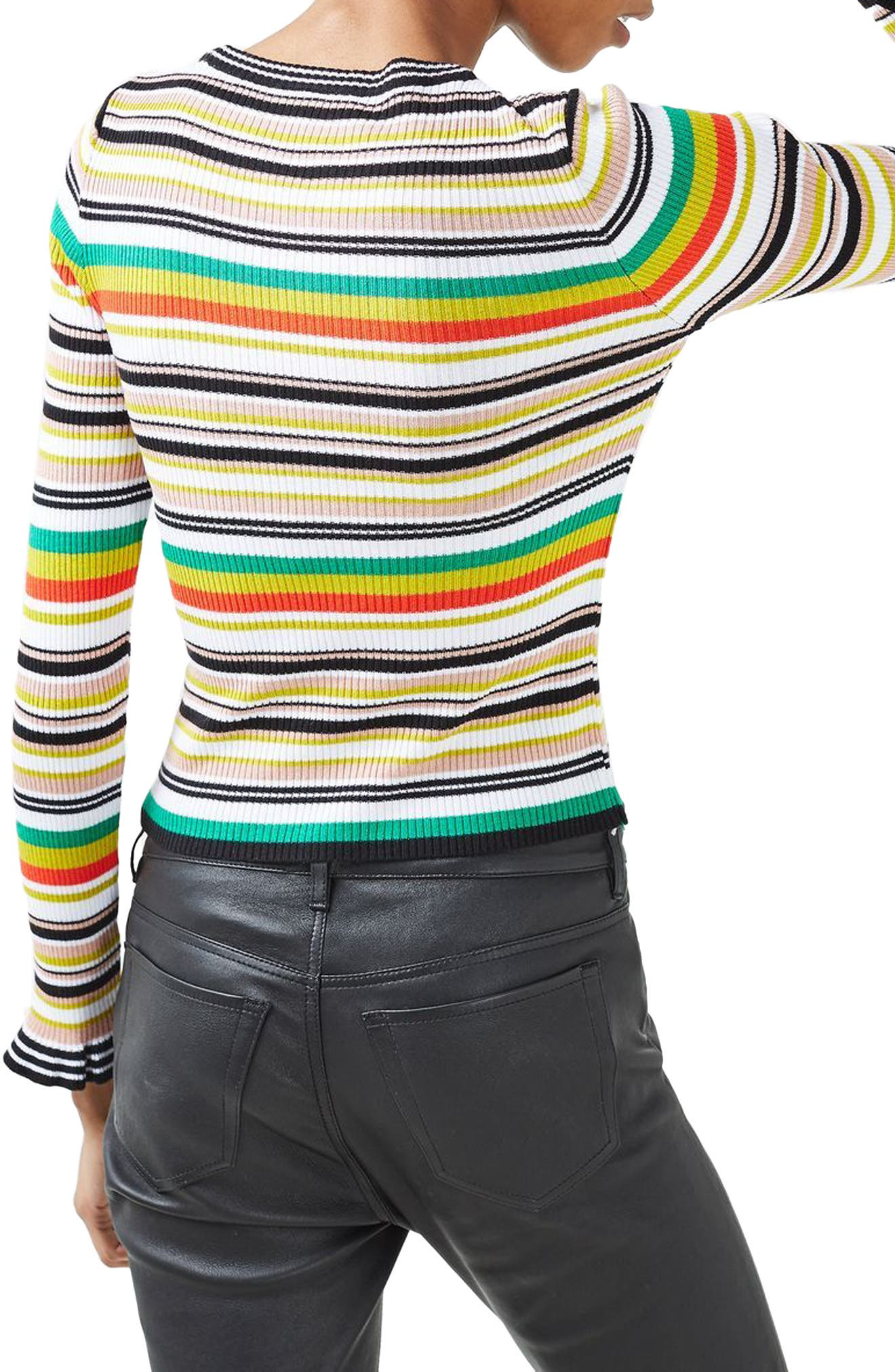 Hyper Stripe Sweater,                             Alternate thumbnail 2, color,                             100