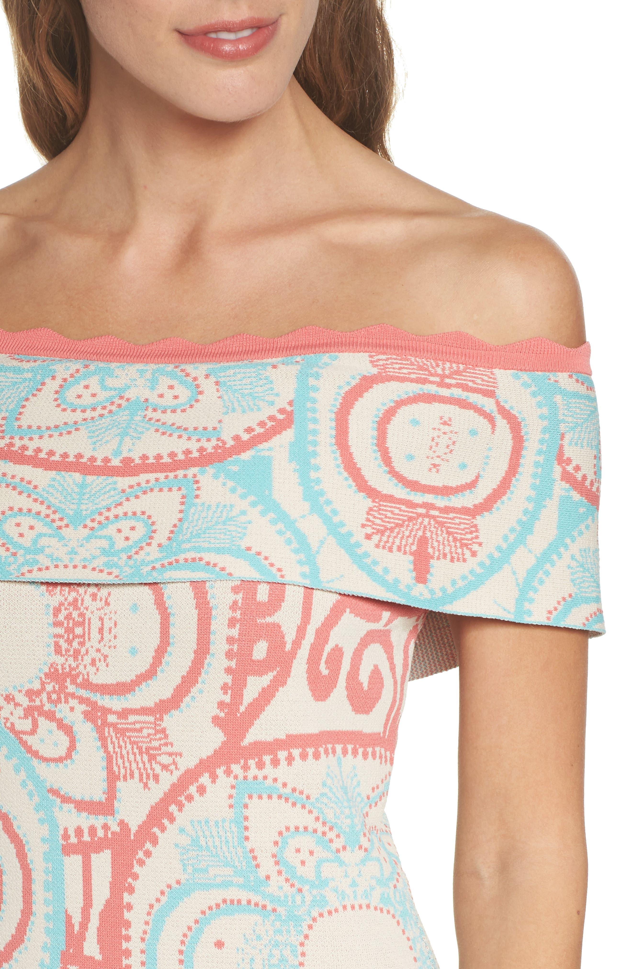 Winnie Off the Shoulder Dress,                             Alternate thumbnail 4, color,                             400