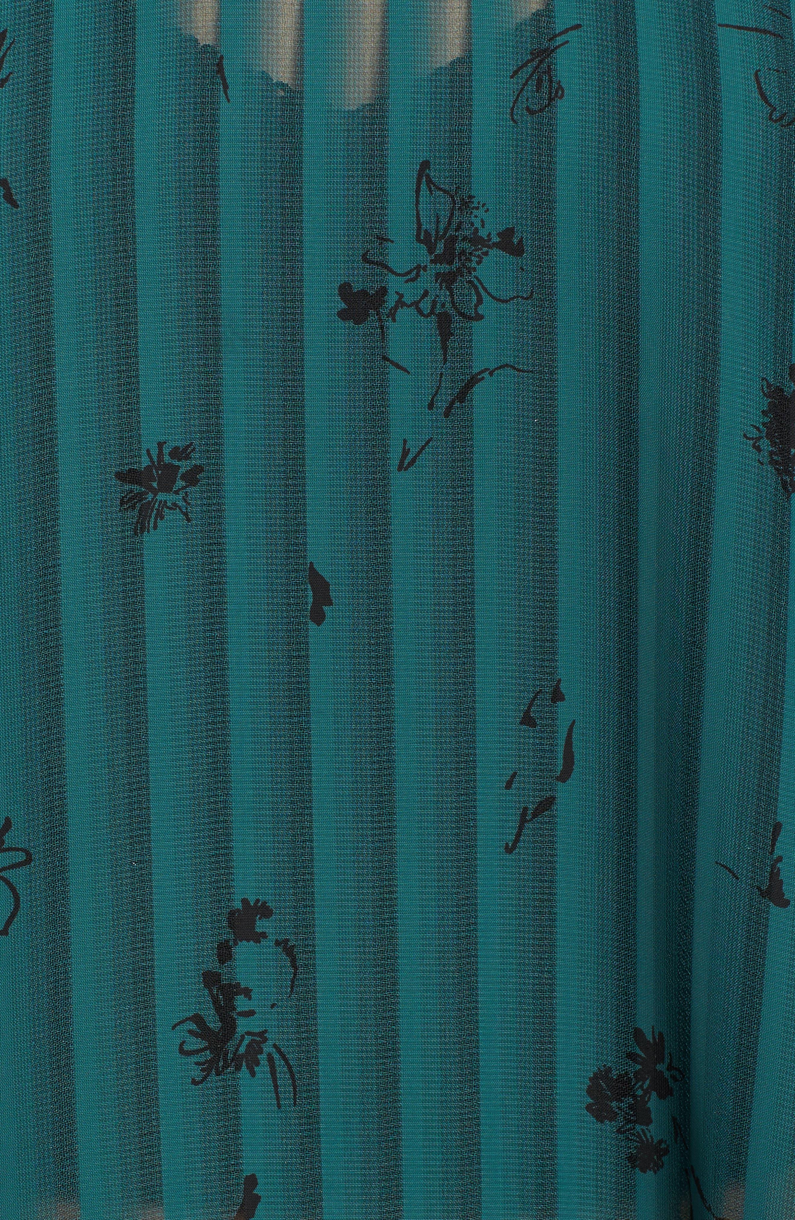 Ruffled Sheer Stripe Blouse,                             Alternate thumbnail 10, color,